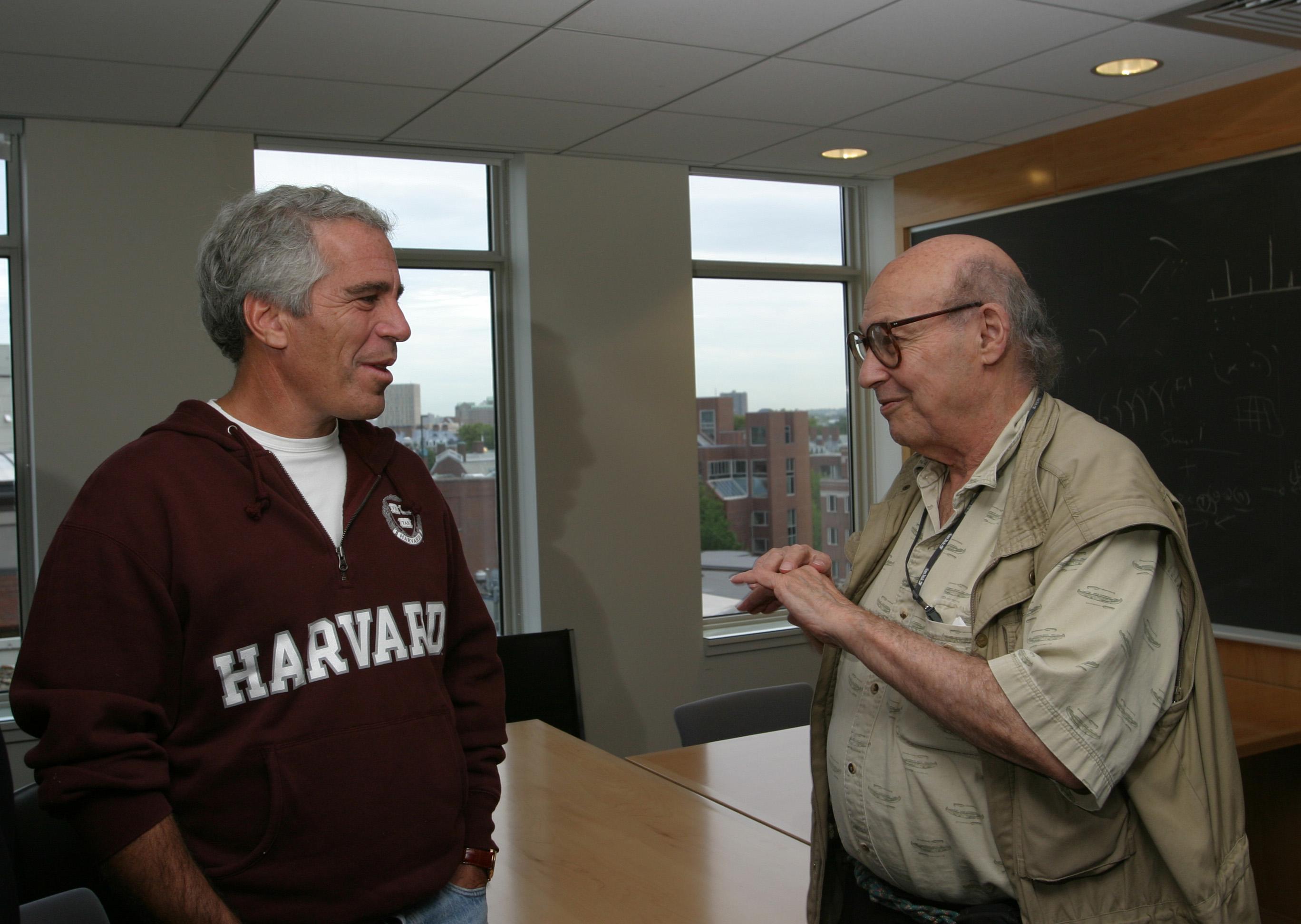 Jeffrey Epstein with Professor Marvin Minsky