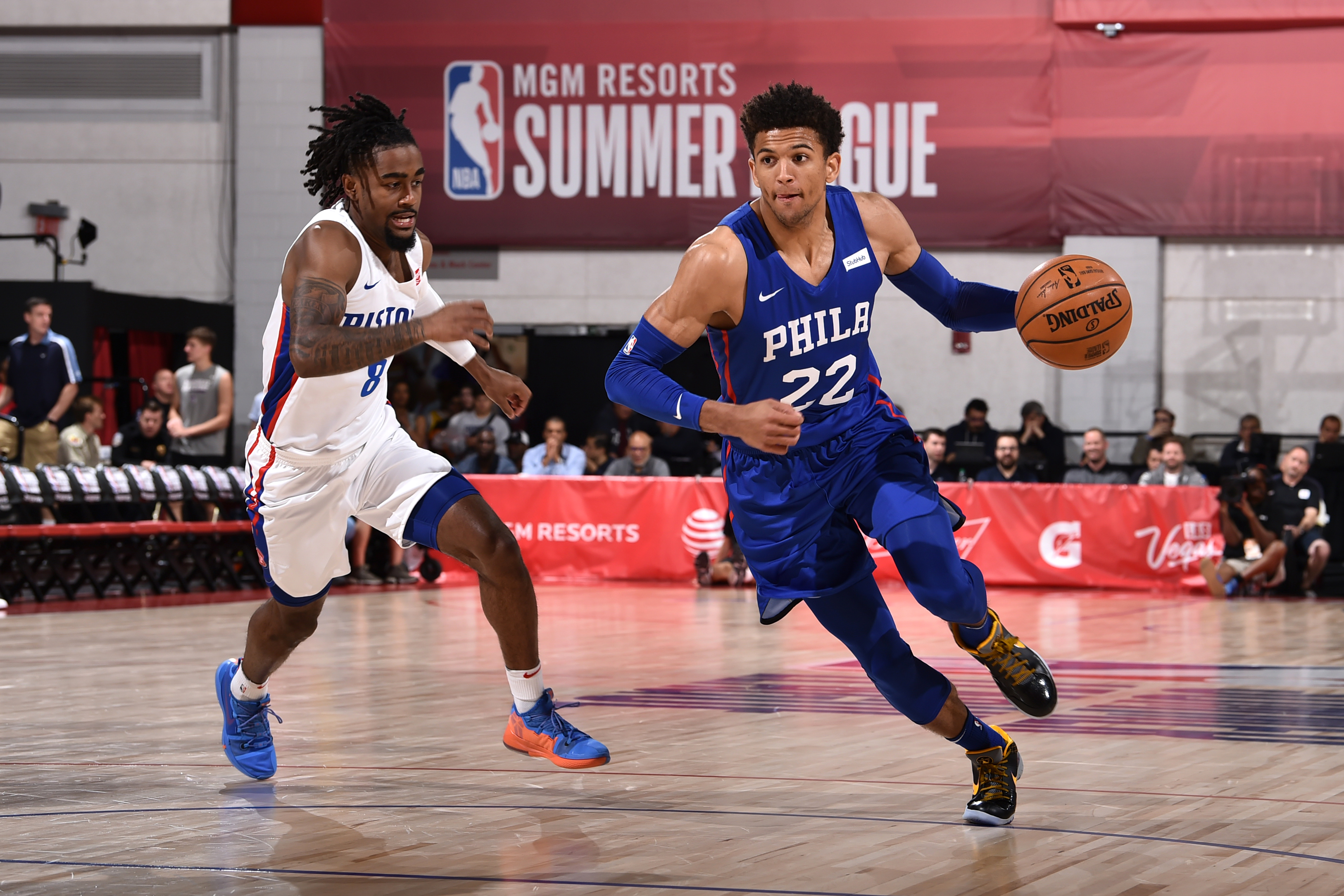 2019 Las Vegas Summer League - Philadelphia 76ers v Detroit Pistons