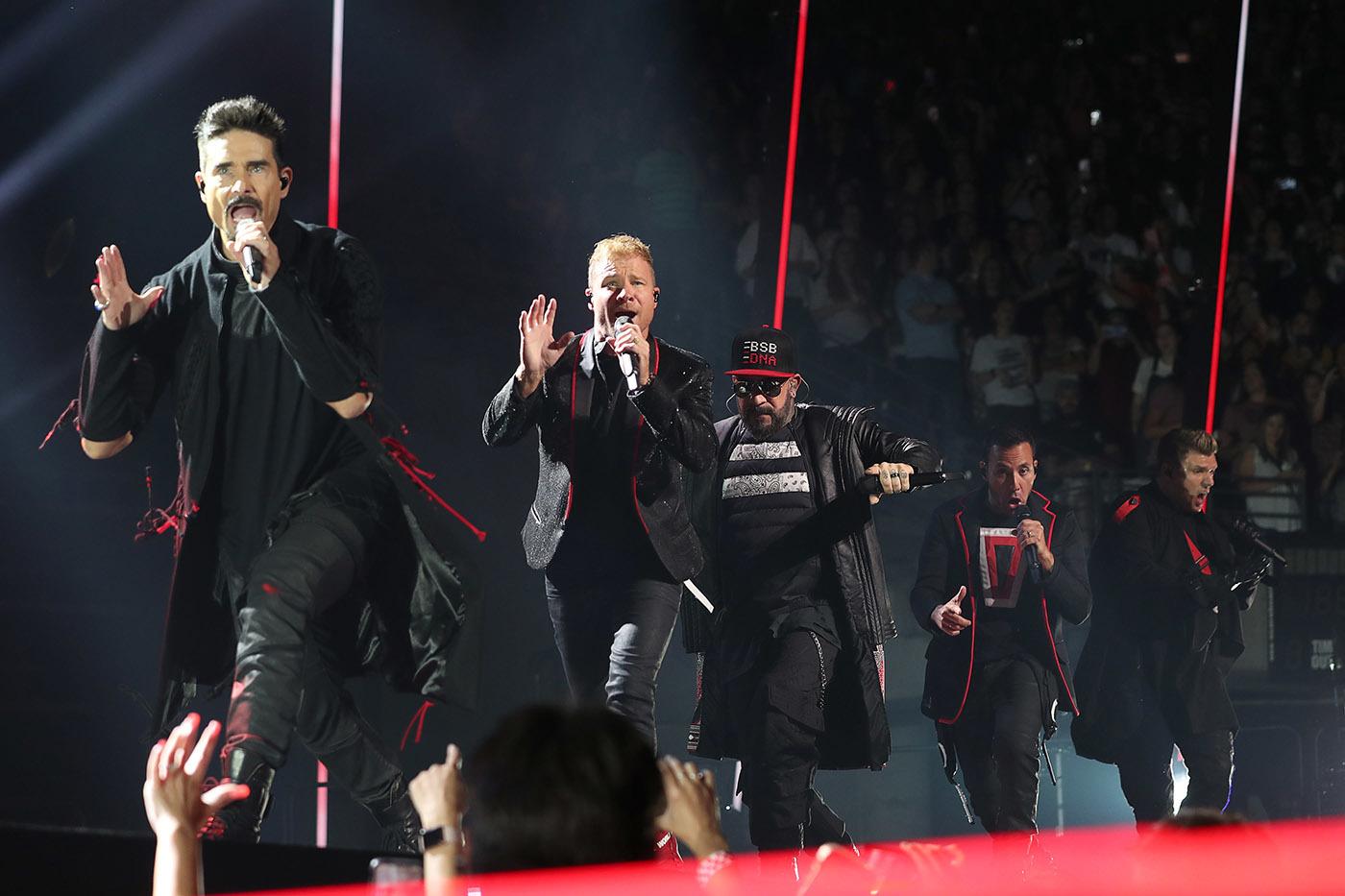 The Backstreet Boys perform at Vivint Smart Home Arena on Aug. 7, 2019.