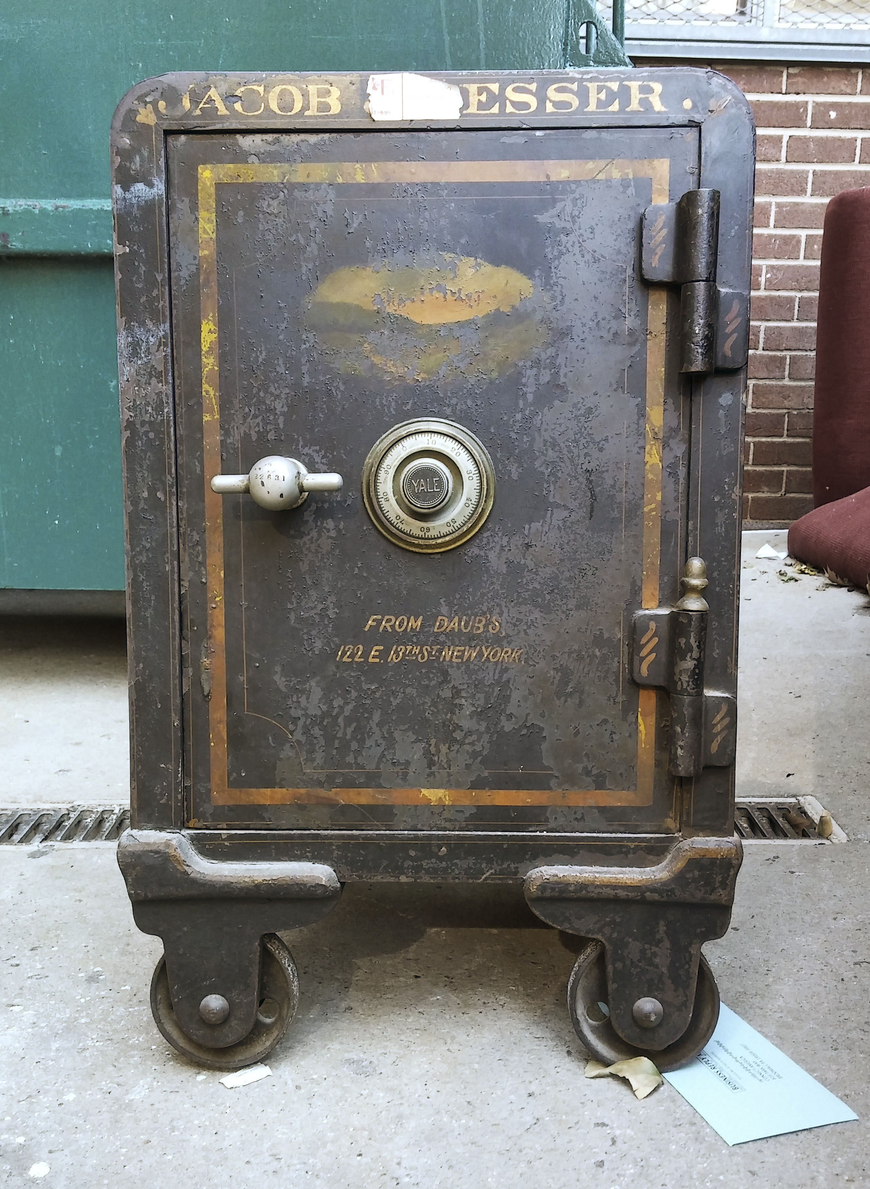 Discarded safe in New York