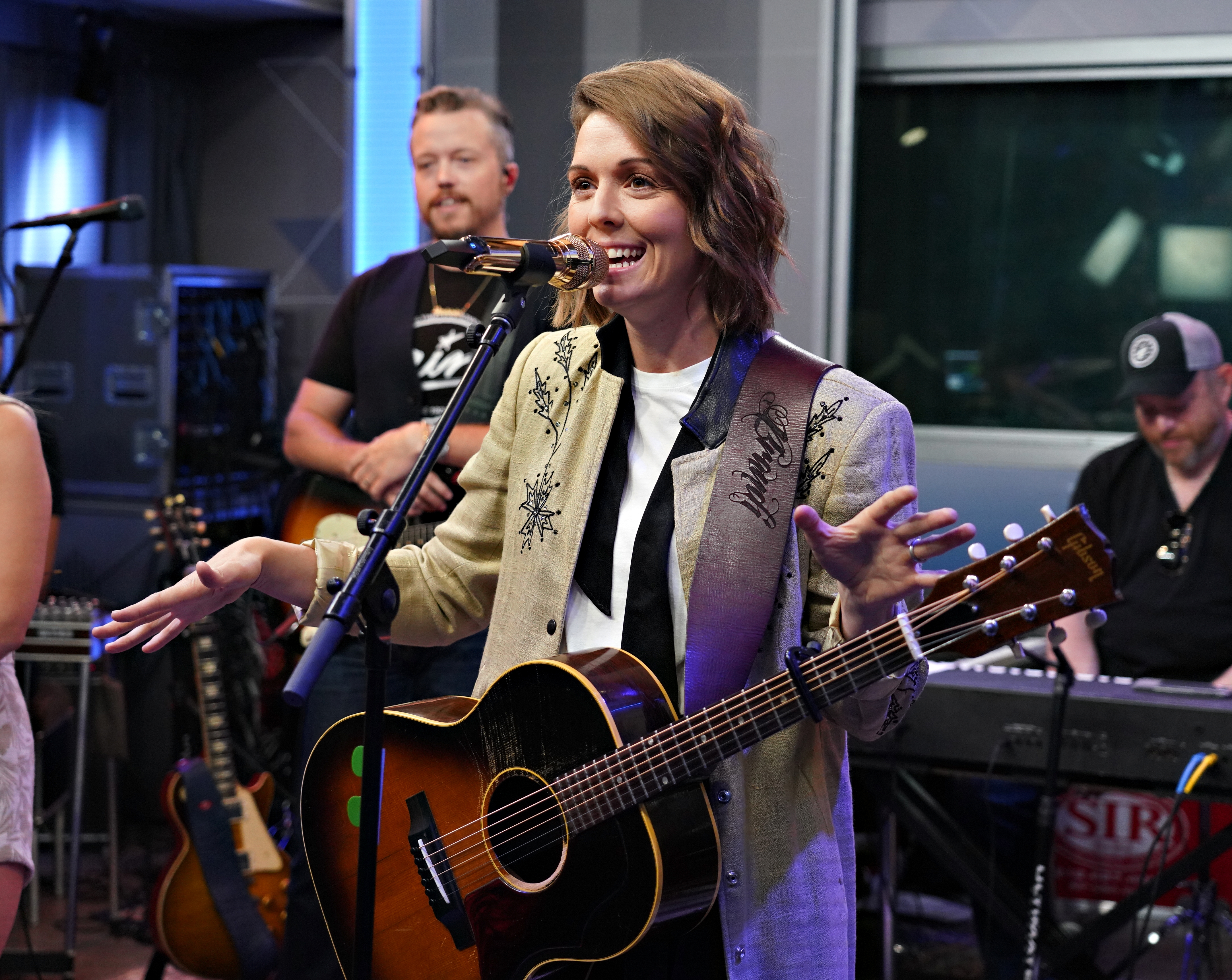 The Highwomen with Brandi Carlile on the microphone perform live in a New York City studio.