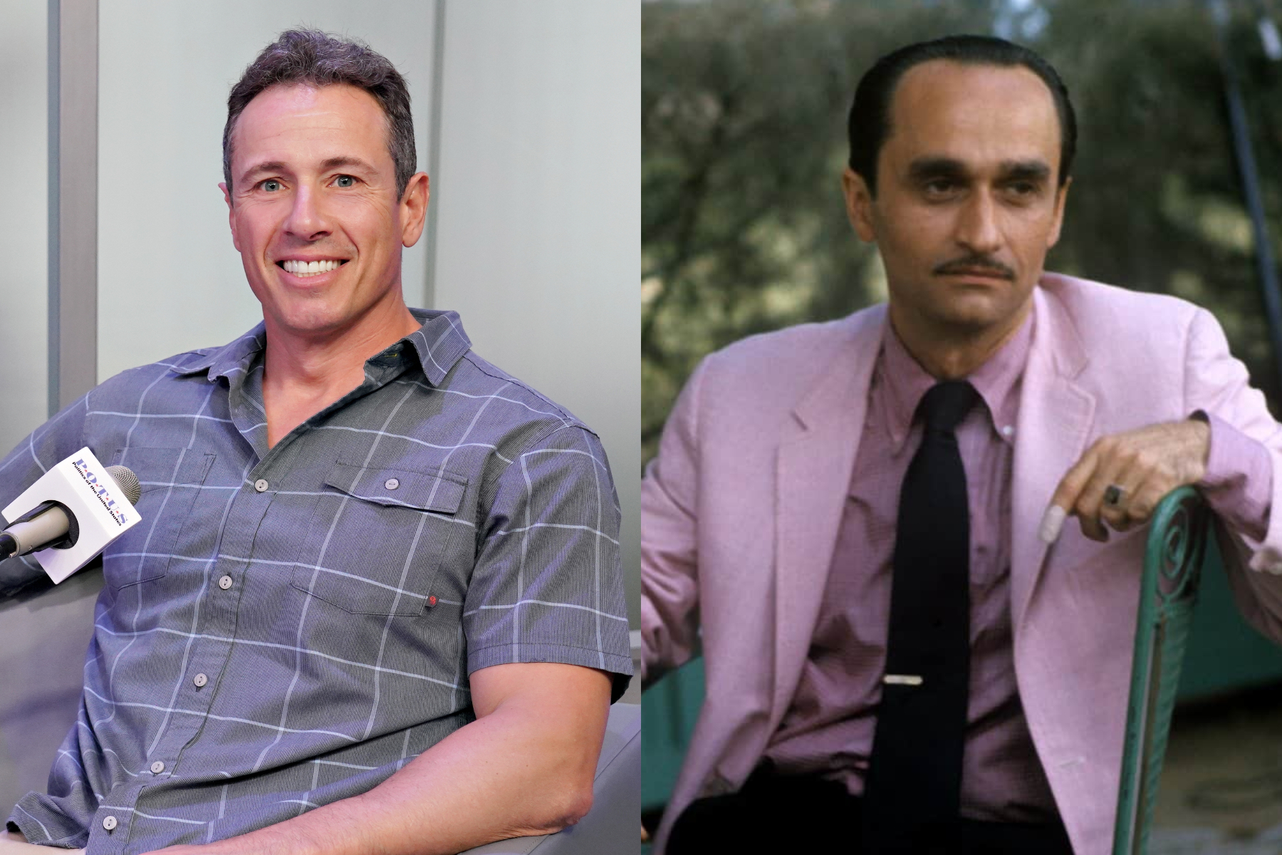 A diptych of Chris Cuomo and Fredo Corleone.