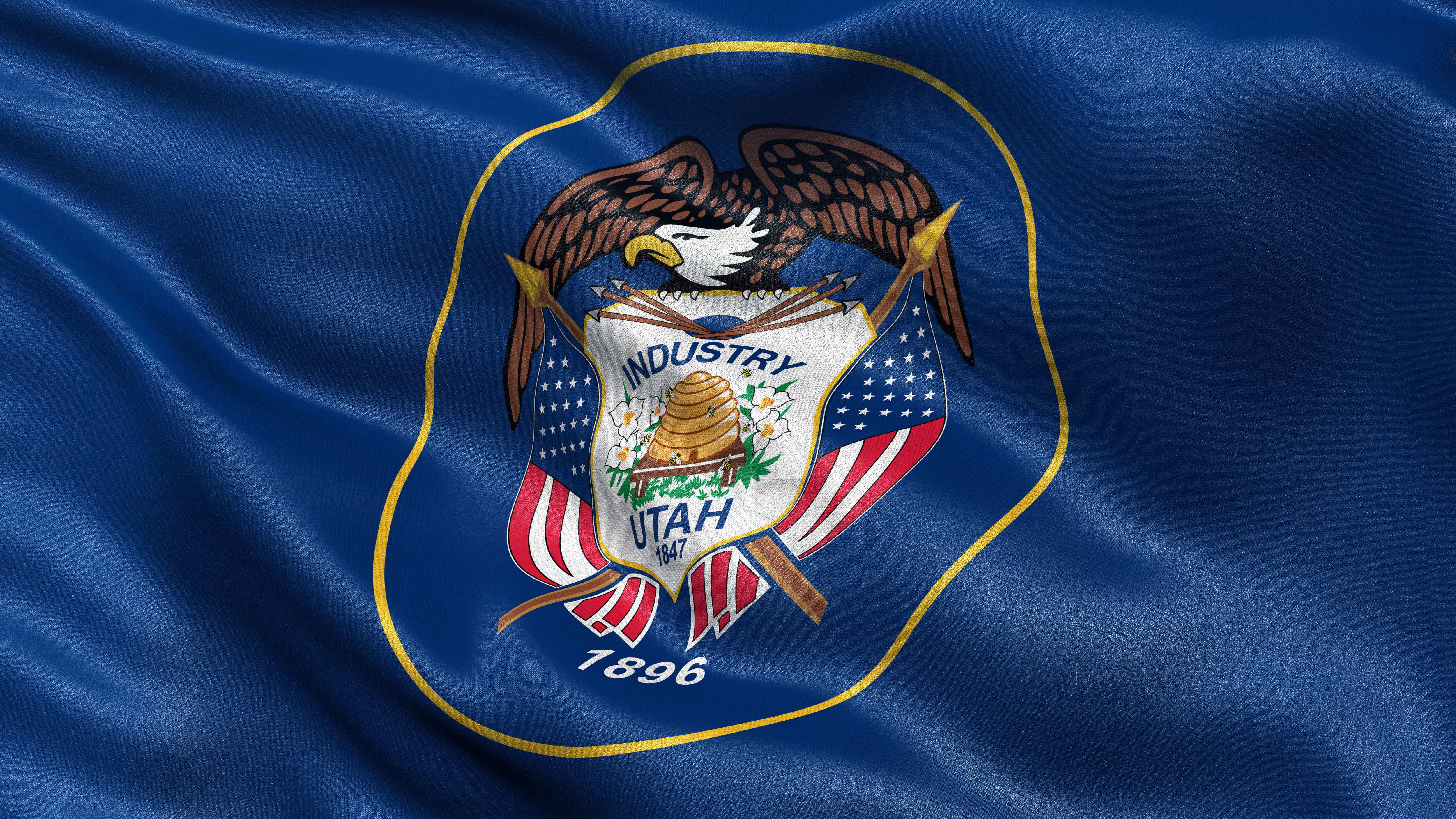 An image of a Utah flag