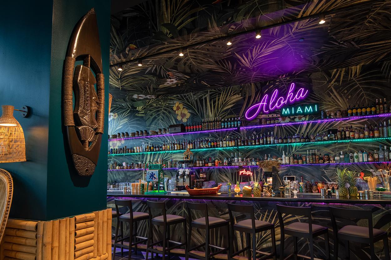 Take a Look Around This Colorful New Tiki Bar in Downtown Miami