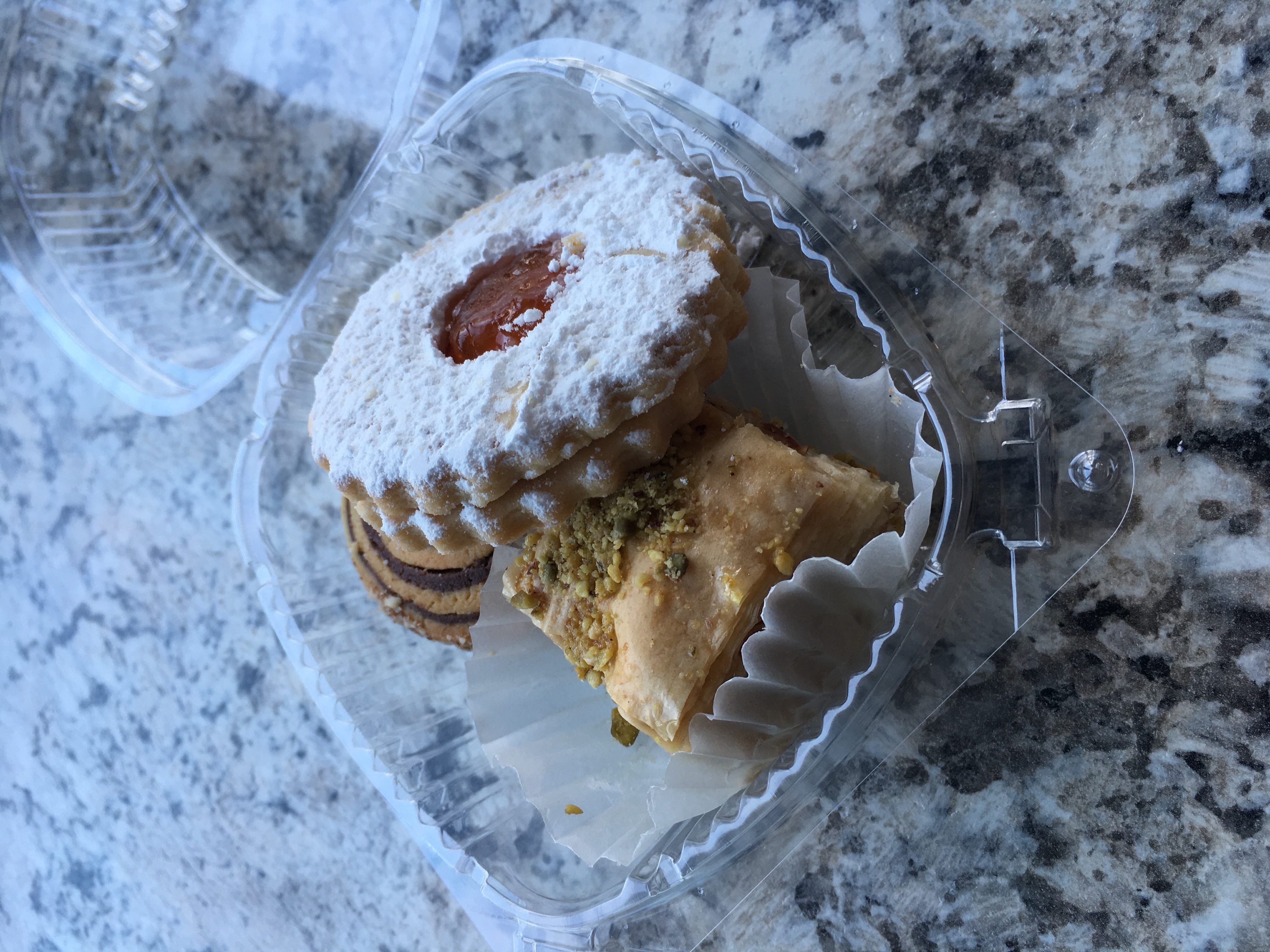 A selection of sweets from the La Jolie Bleue in Georgetown