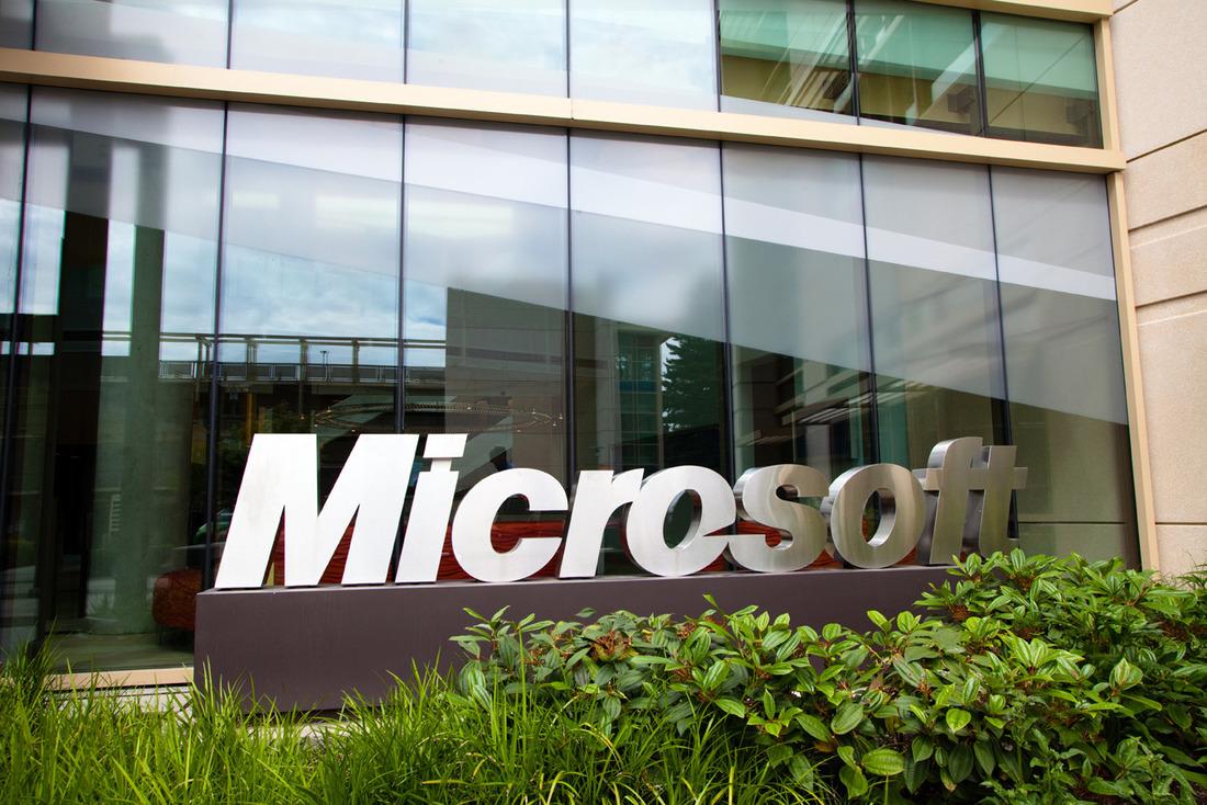 Microsoft campus stock image