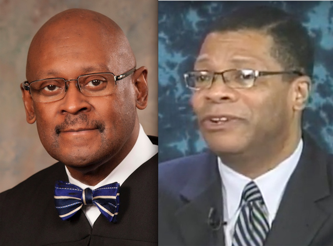 Illinois Supreme Court Justice P. Scott Neville, left; Appellate Justice Nathaniel Howse, right.