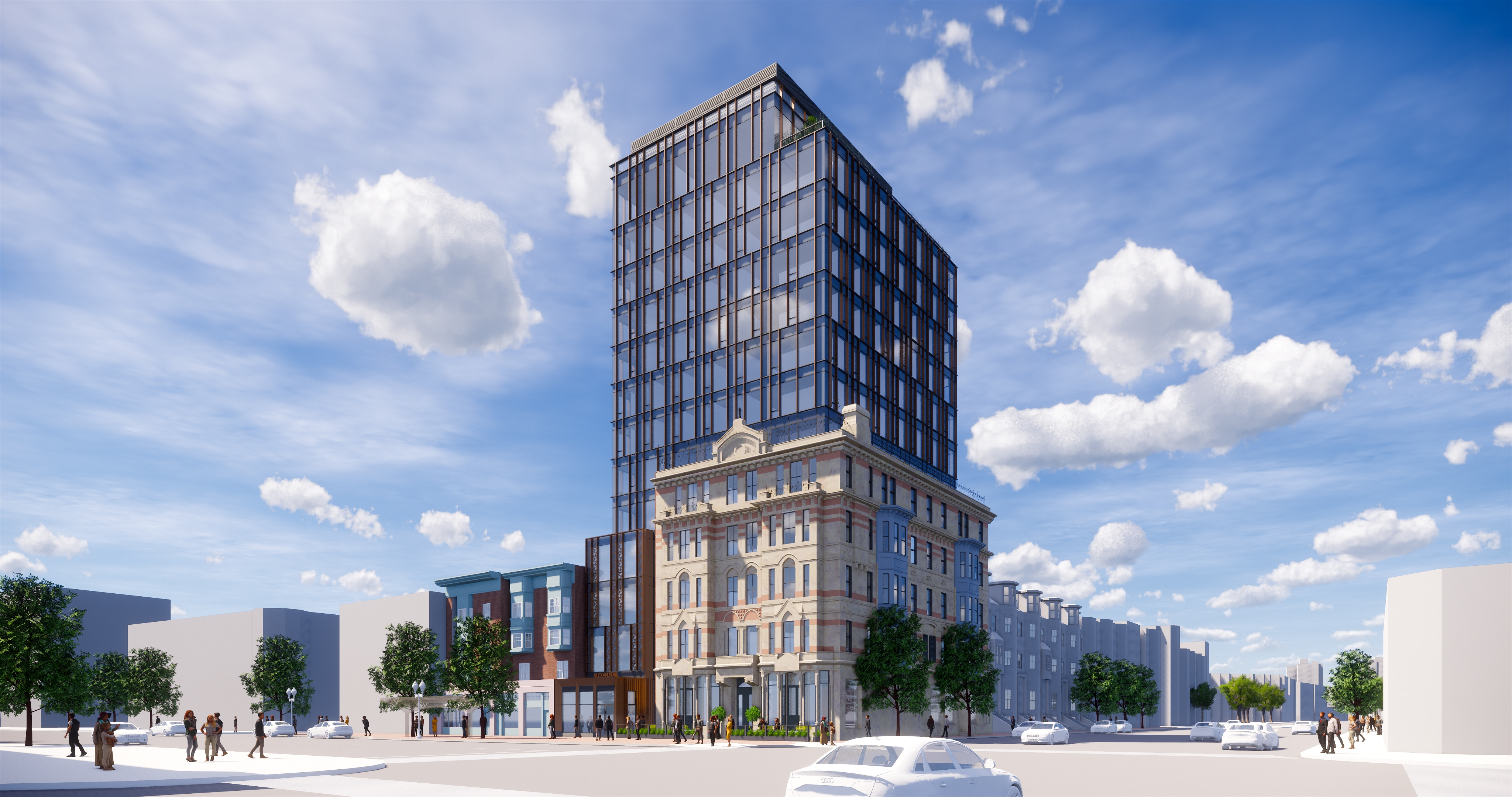 Rendering of the proposed Alexandra Hotel redevelopment.