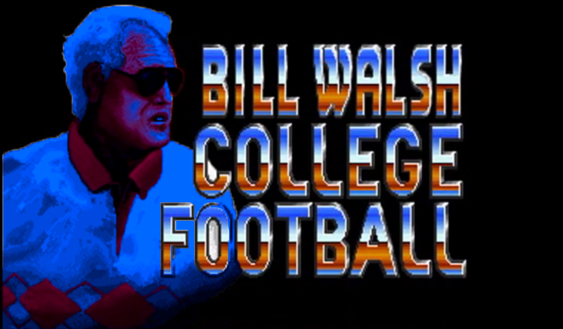 Bill Walsh College Football's video game logo.