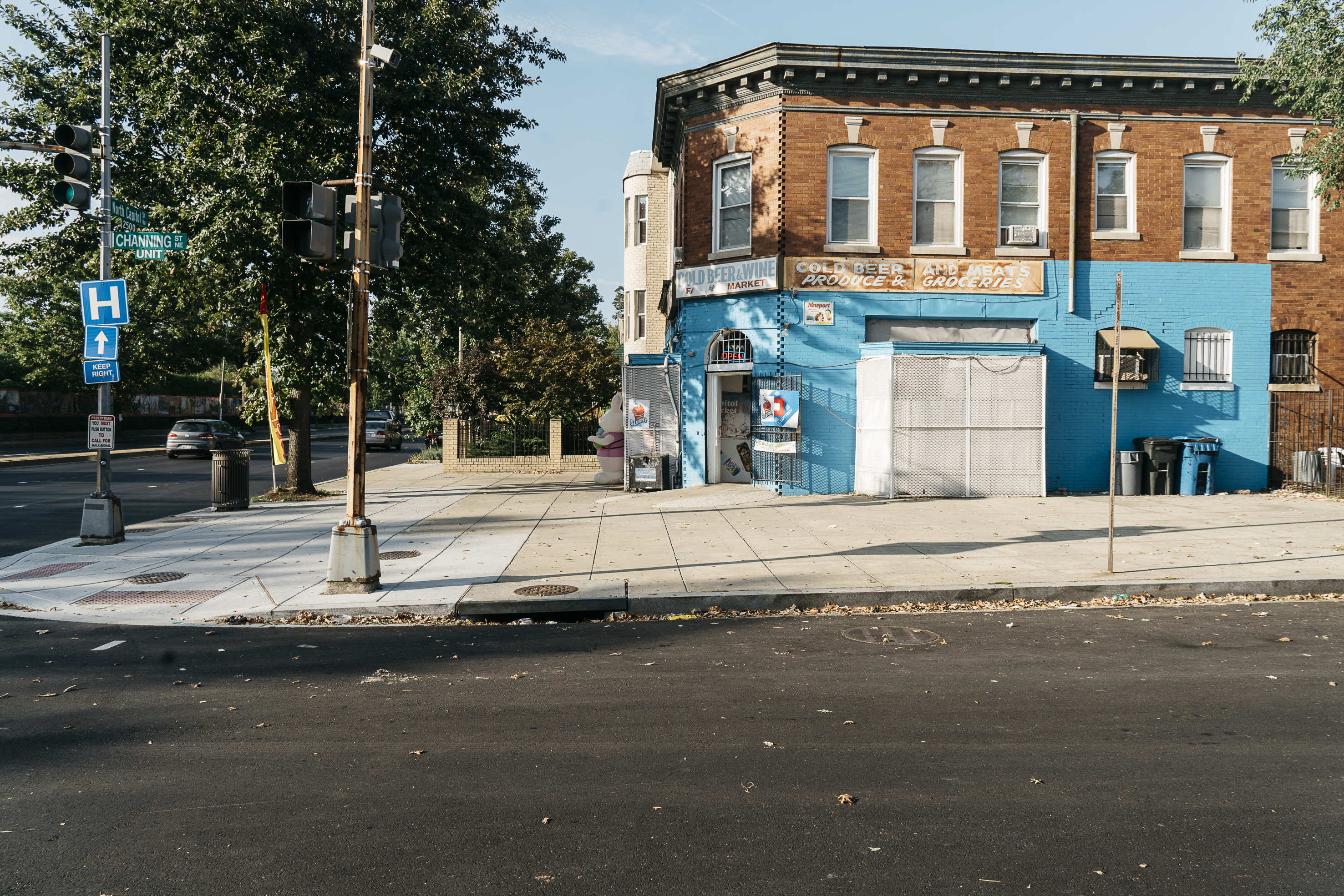 A bodega on the corner of North Capitol Street Channing Street NE, about a block from the crash site