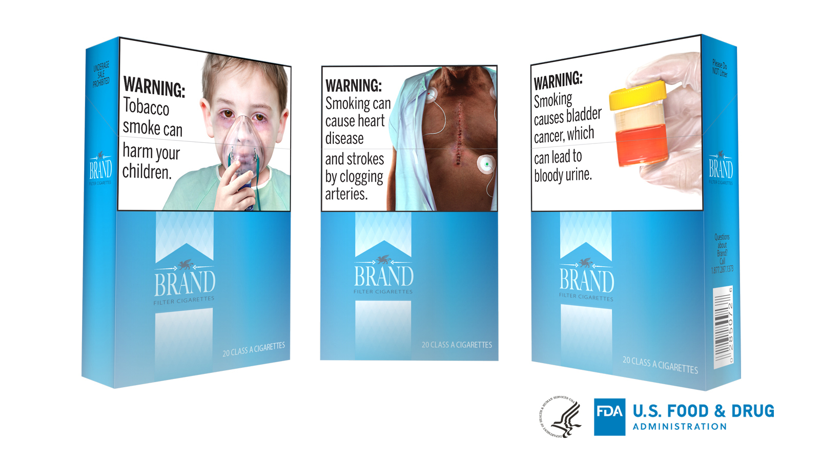 The FDA is proposing 13 new large, graphic warnings that would appear on all cigarettes, including images of cancerous tumors, diseased lungs and bloody urine.