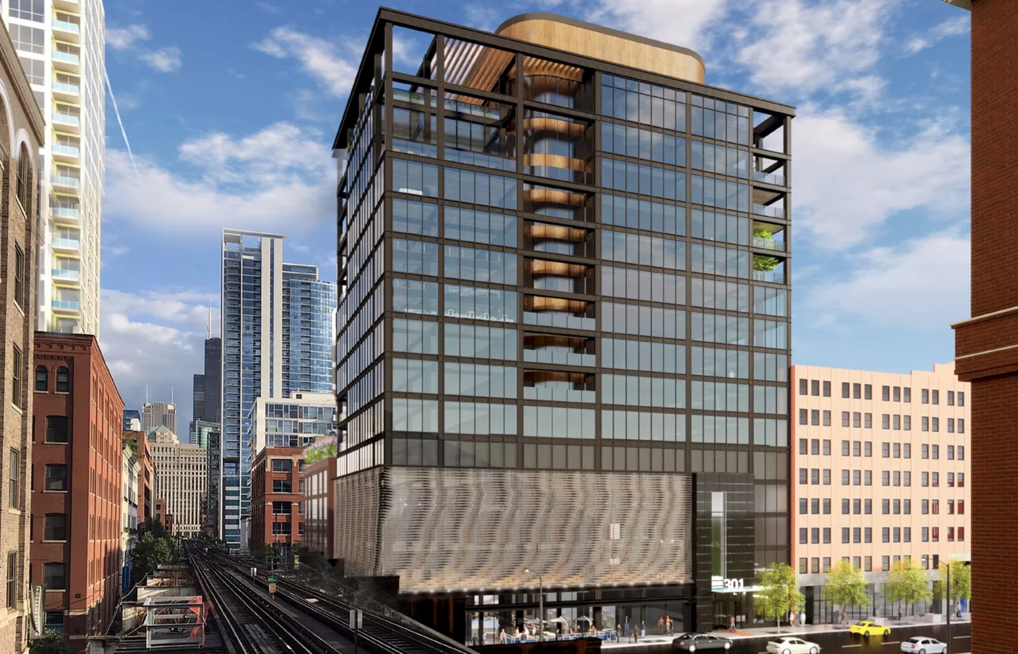 River North office proposal with moving 'kinetic wall' clears key City Hall vote