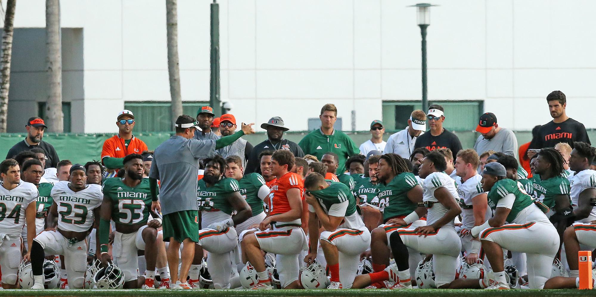 University of Miami football practice