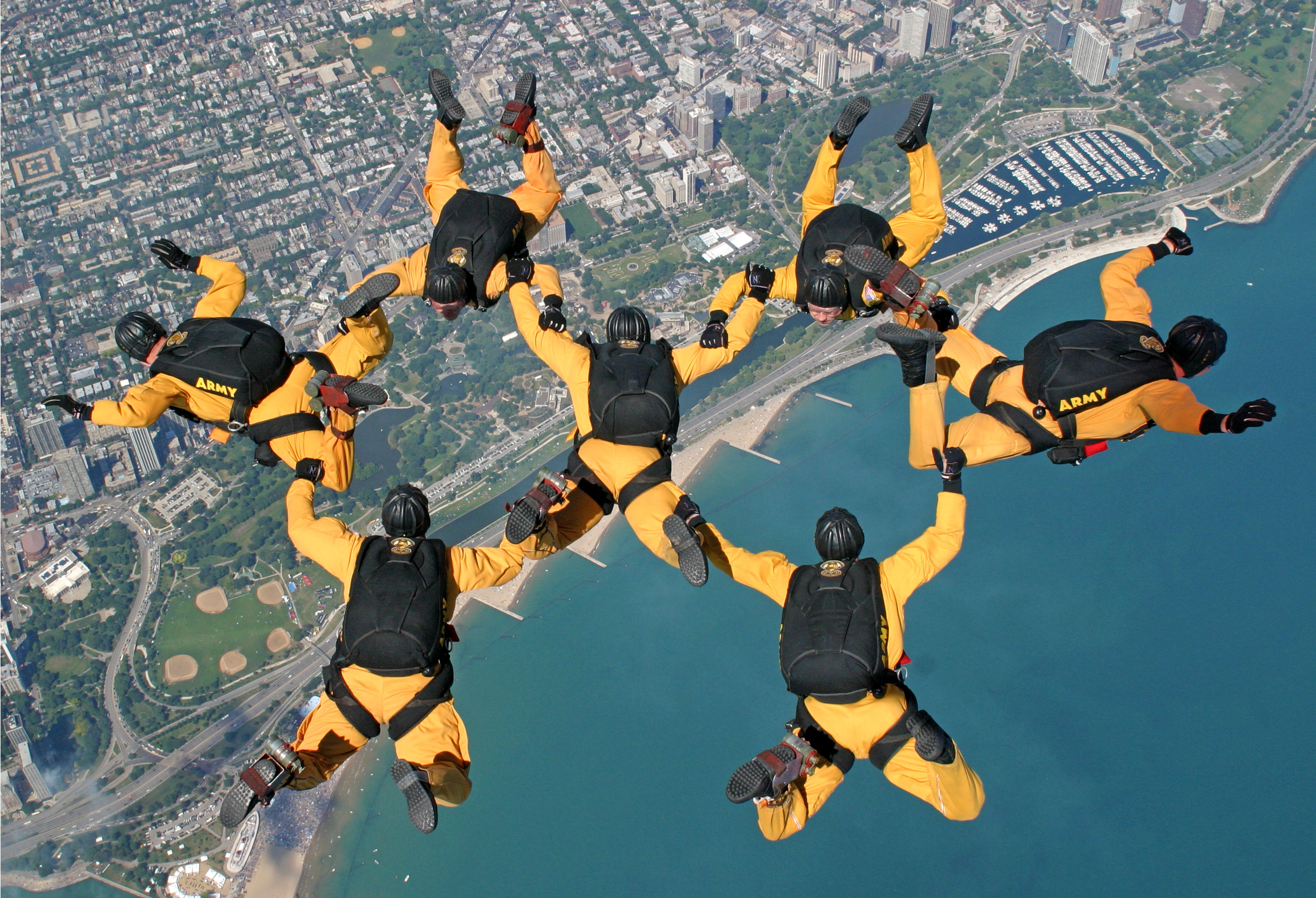 The Army Golden Knights again will descend toward Chicago at the Air & Water Show this weekend.