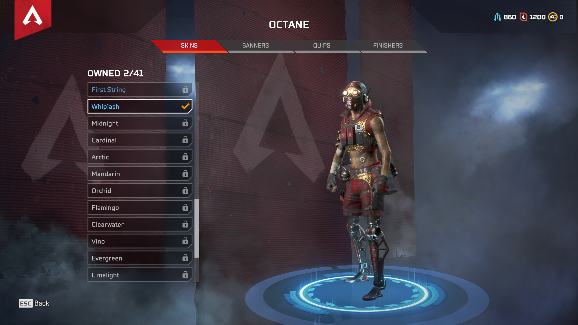 Apex Legends has a new Octane skin available through Twitch Prime