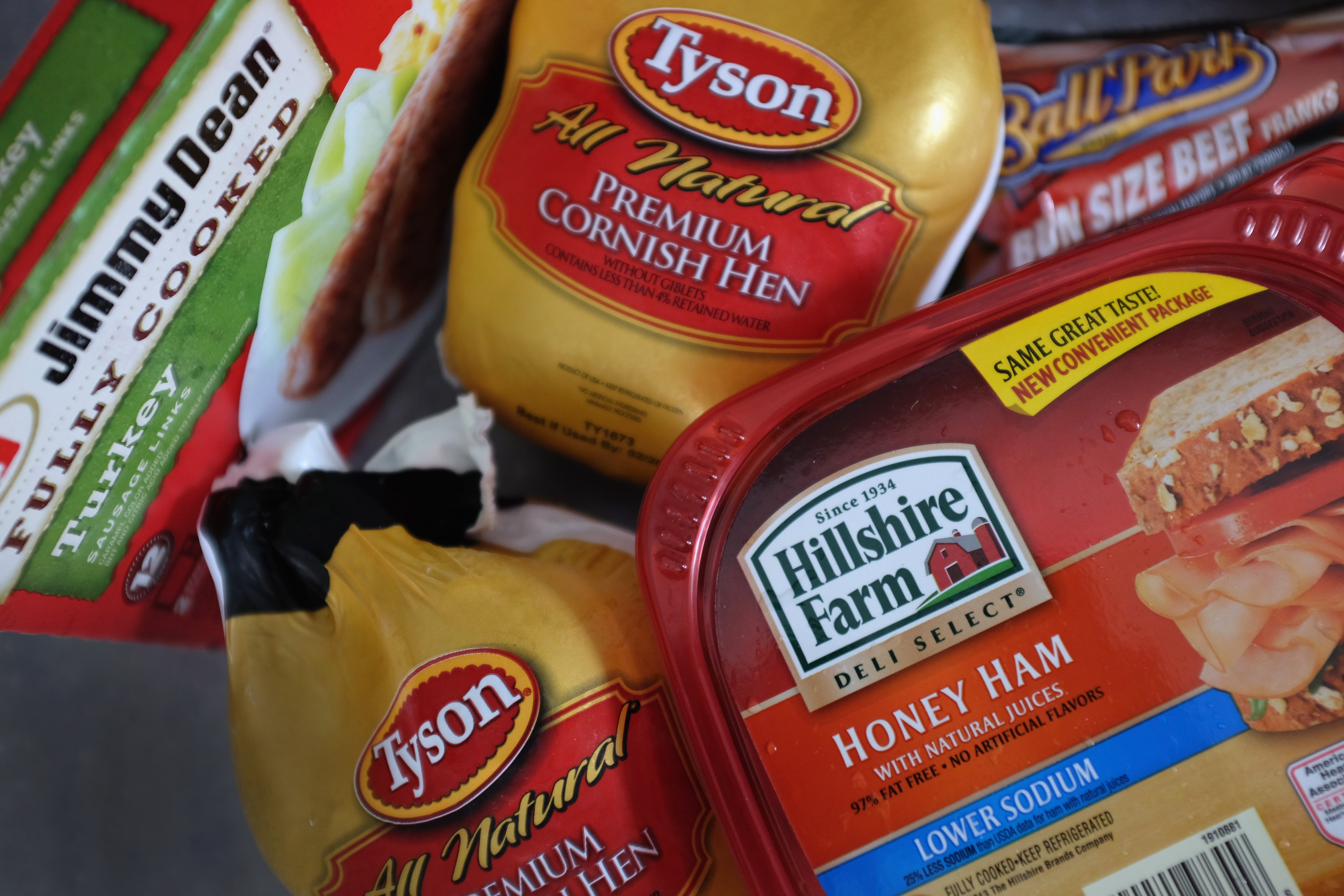 Tyson Foods and Hillshire Brands products