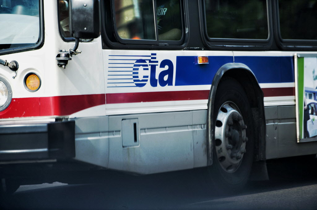 The rear window of a CTA bus was shot out with a pellet gun Aug. 16, 2019, near Jackson Boulevard and Homan Avenue.