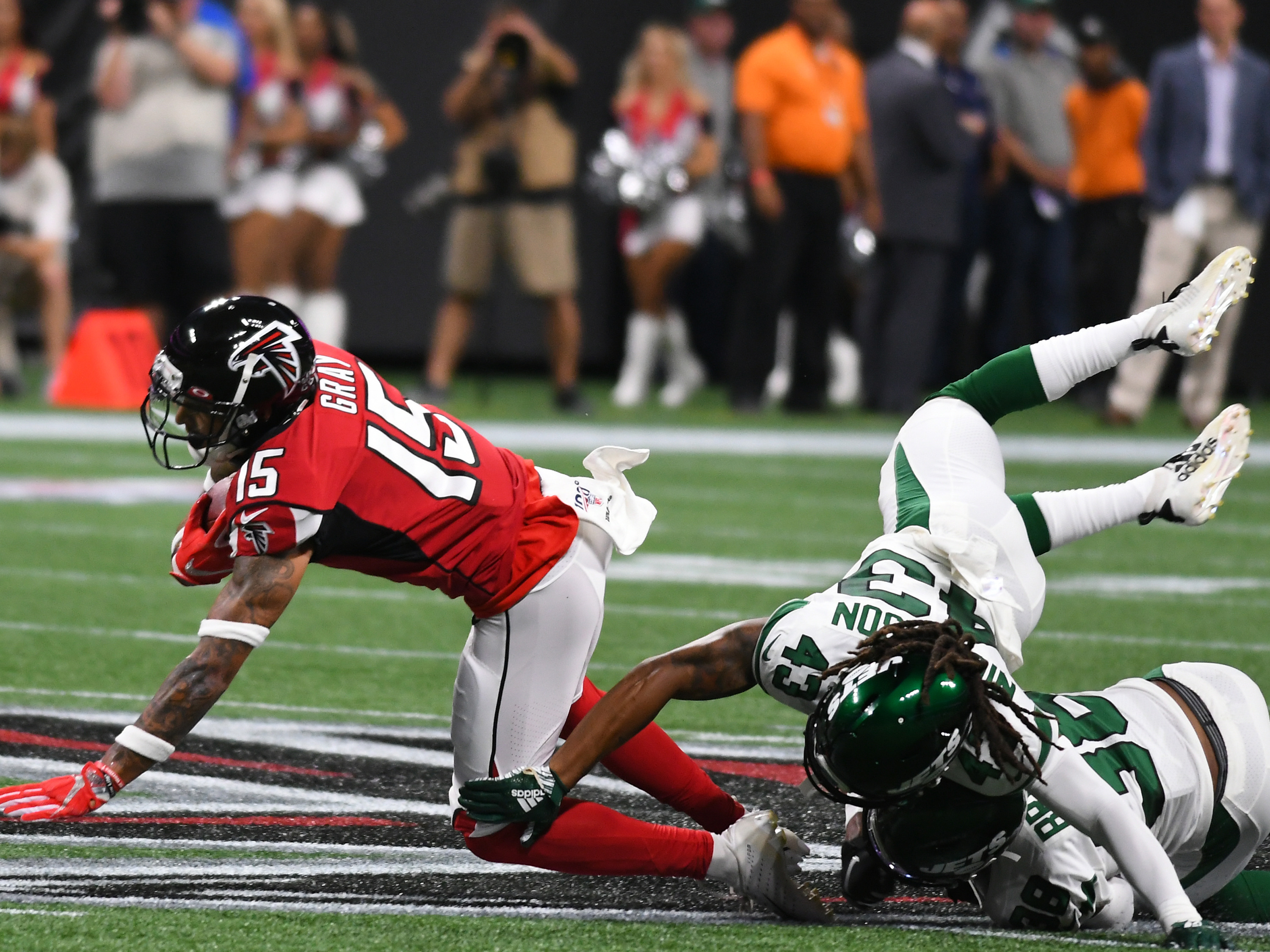 NFL: AUG 15 Preseason - Jets at Falcons