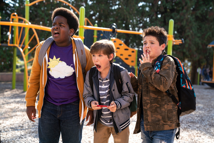 Keith L. Williams, Jacob Tremblay, and Brady Noon in Good Boys.