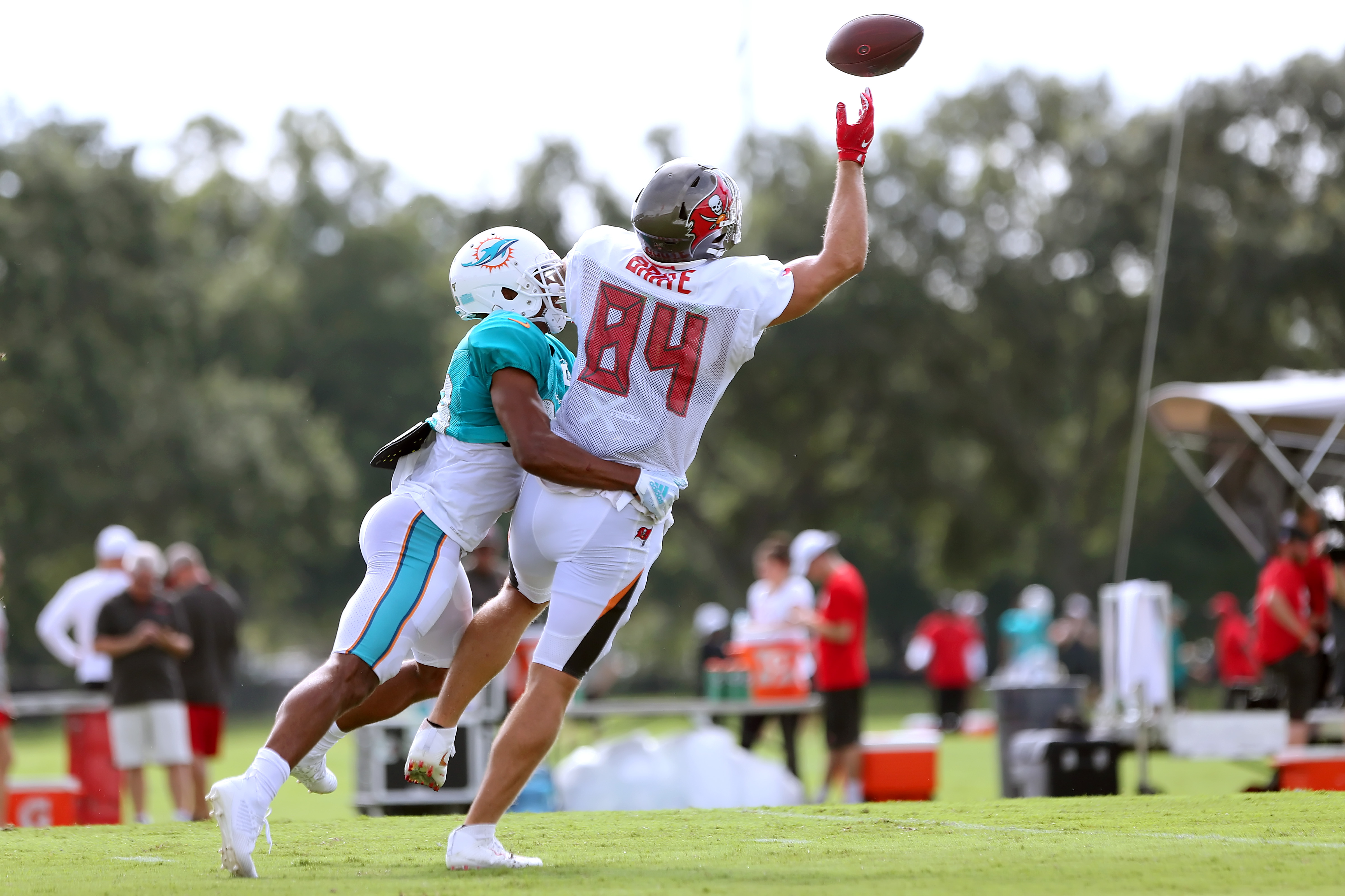 NFL: AUG 13 Buccaneers and Dolphins Joint Practice
