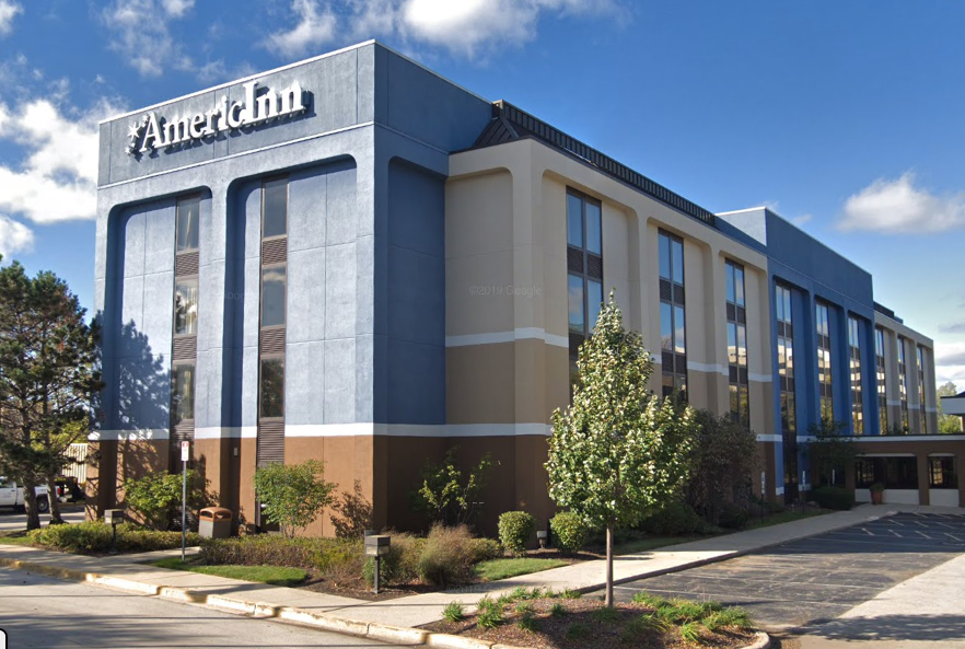 State and county health officials inspected the AmericInn by Wyndham Hotel at 1300 E. Higgins Rd. in Schaumburg. | Google Maps