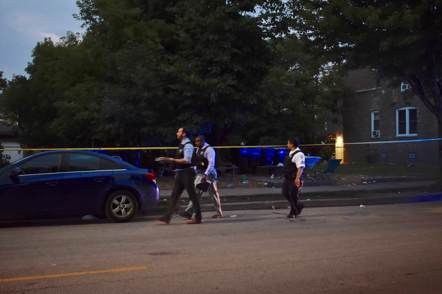 Three people were shot in Humboldt Park.