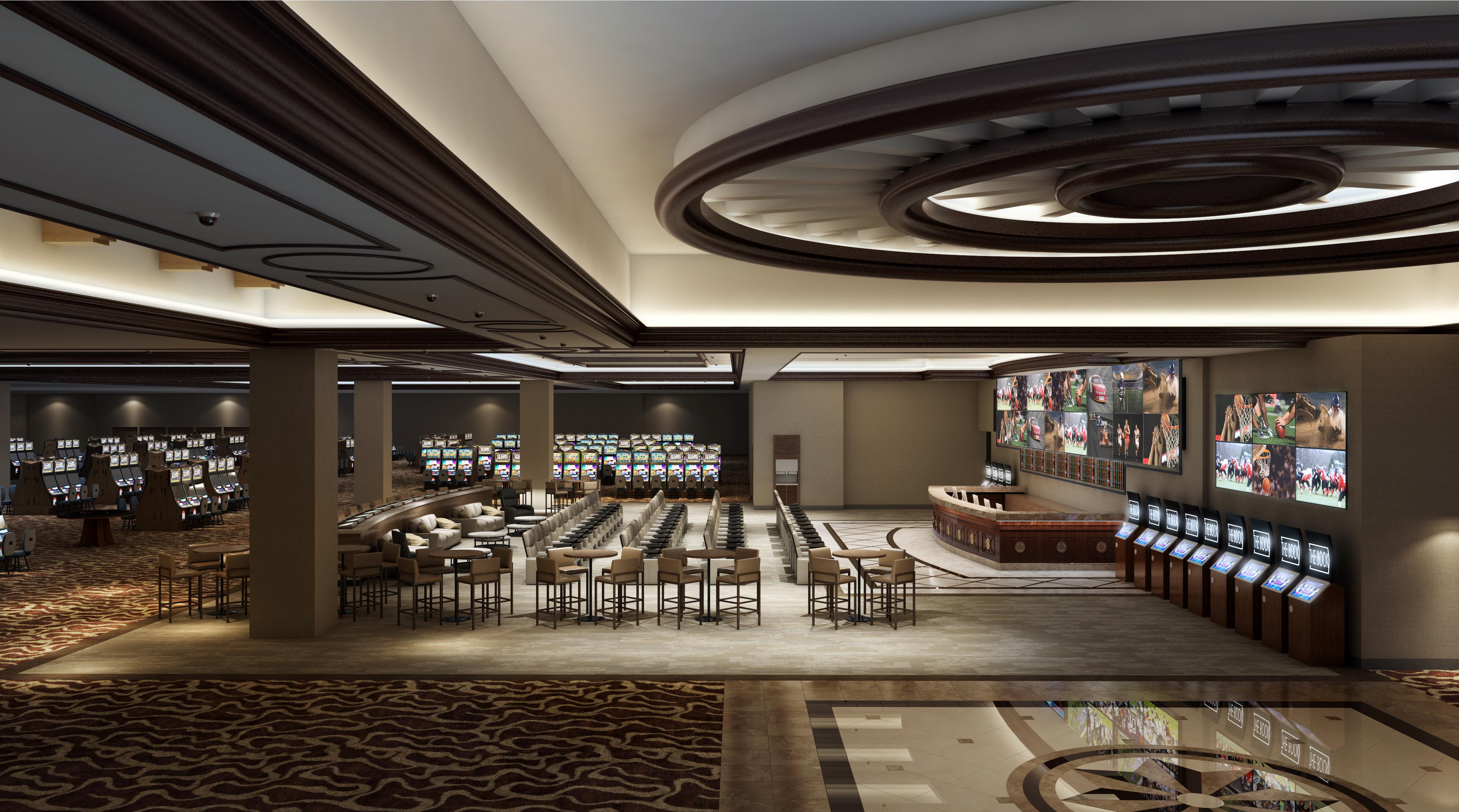 Artist's rendering of Horseshoe Hammond Casino's new sports book, slated to open Sept. 4.