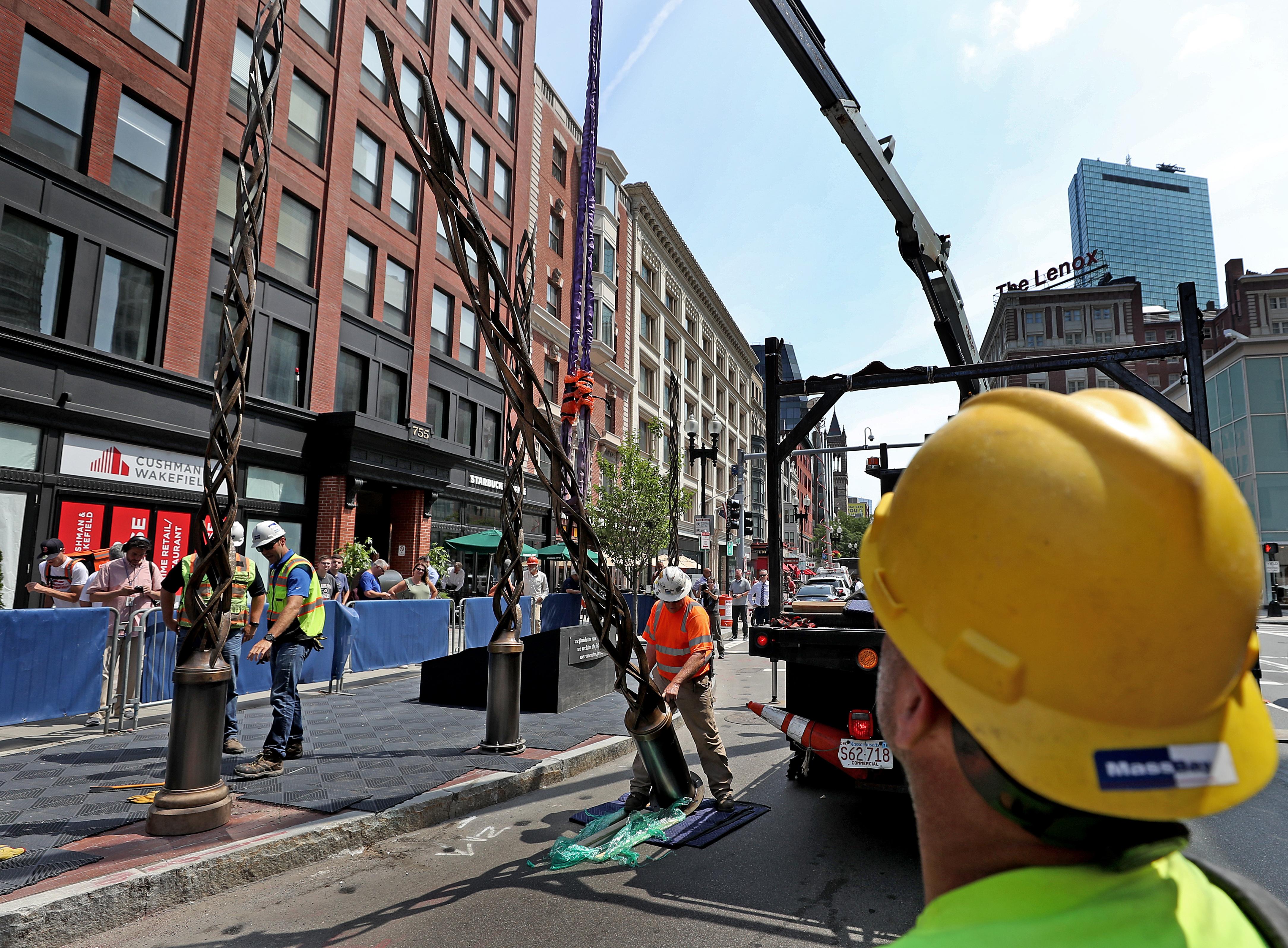 Boston Marathon bombing memorial installation to wrap