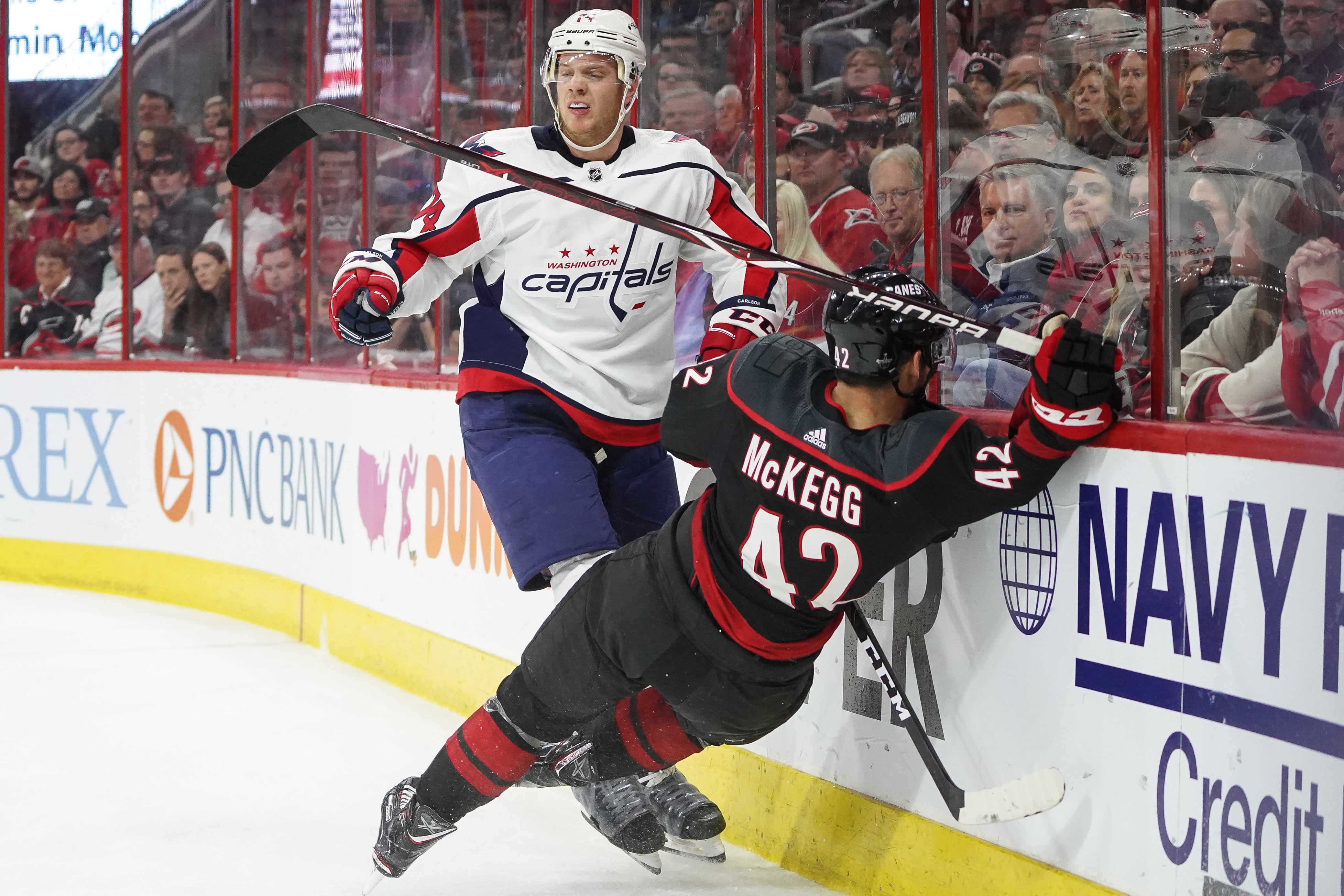 NHL: APR 18 Stanley Cup Playoffs First Round - Capitals at Hurricanes