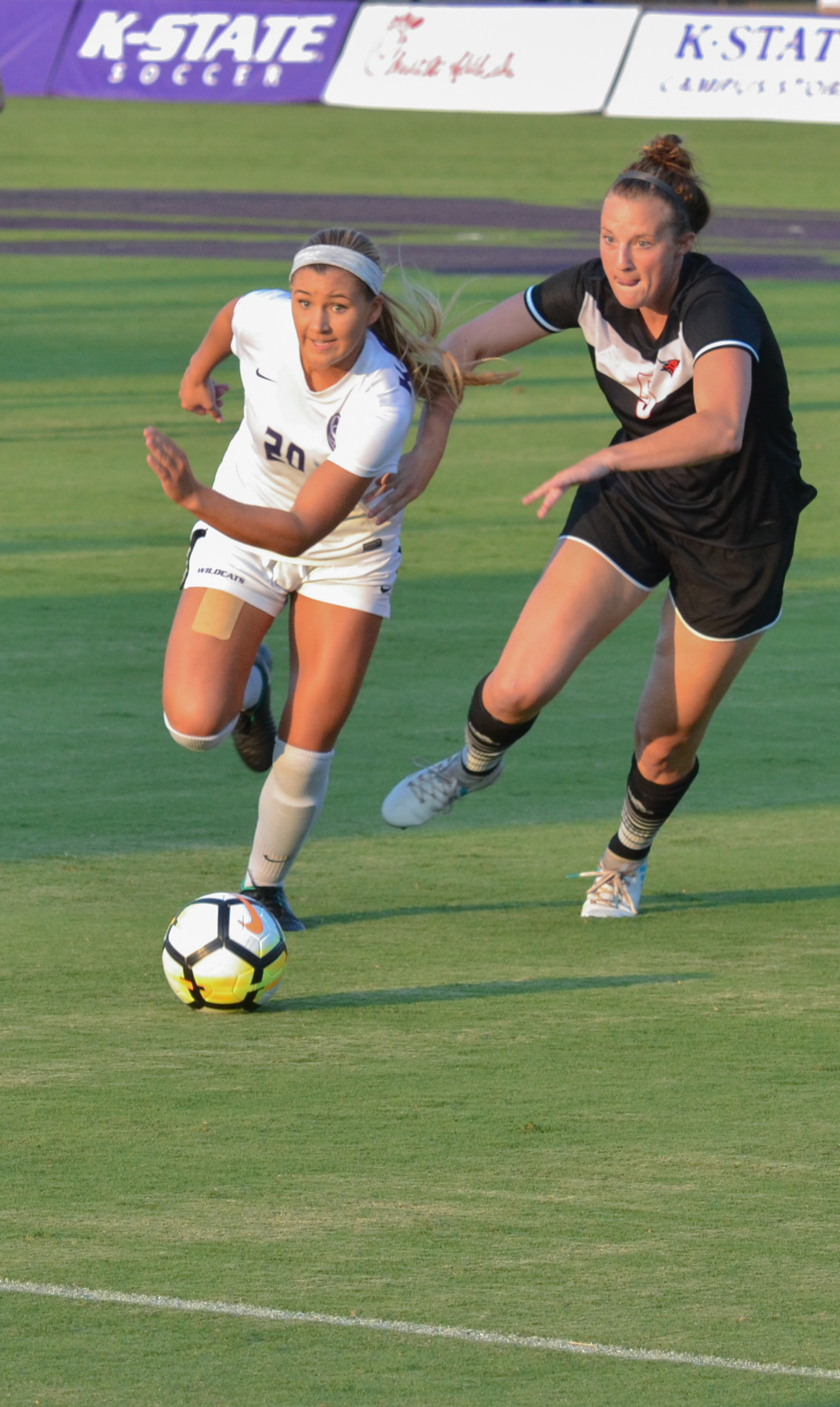 Katie Cramer slotted one of K-State's four goals Saturday night.
