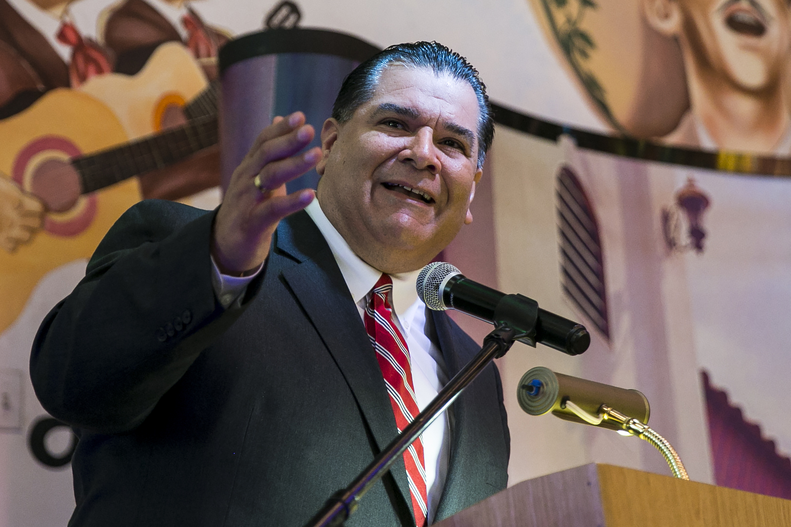 Illinois state Sen. Martin Sandoval has issued an apology after a mock assassination of President Donald Trump was staged at his fundraiser.