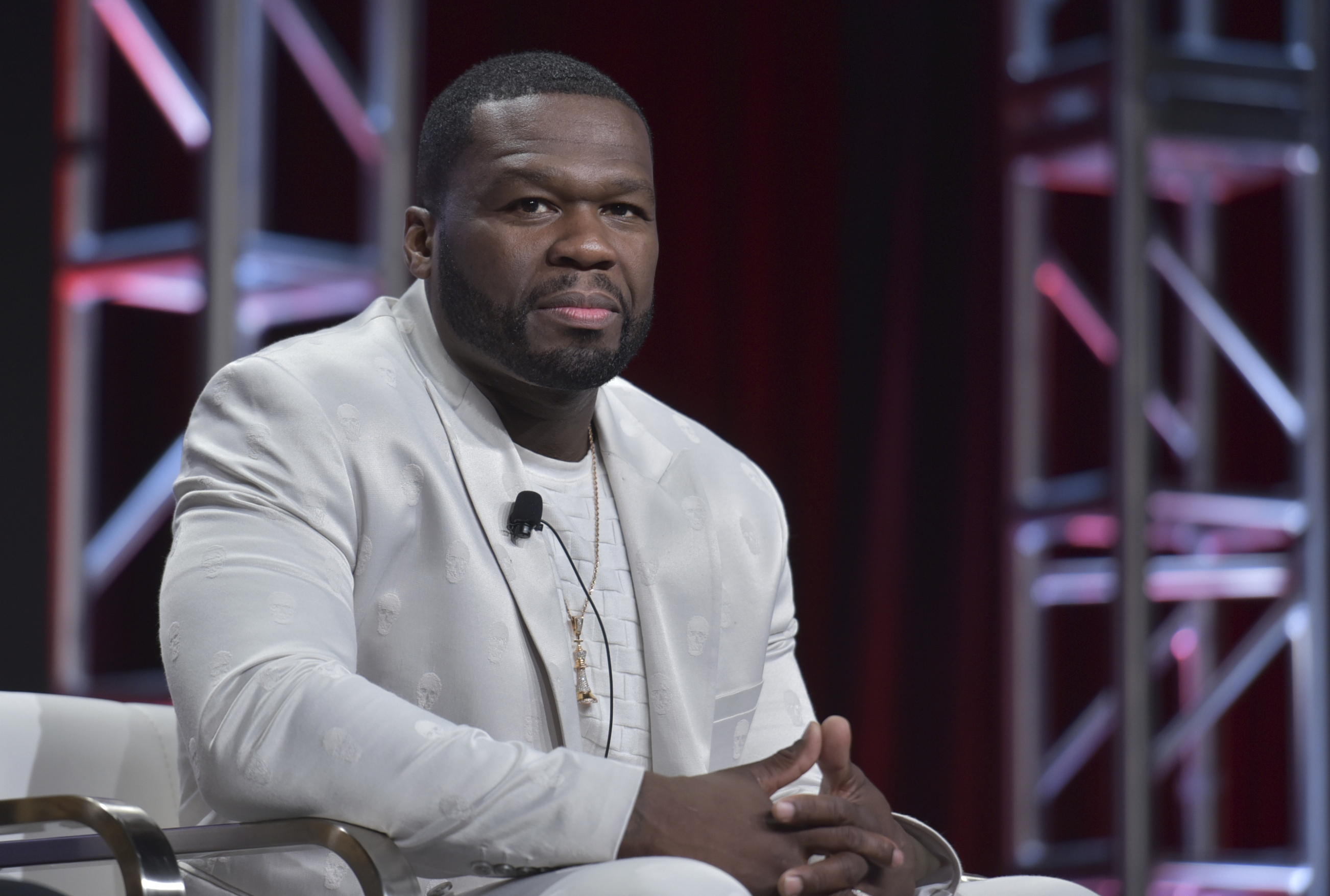 "Curtis ""50 Cent"" Jackson participates in the Starz ""Power"" panel at the Television Critics Association Summer Press Tour in July."