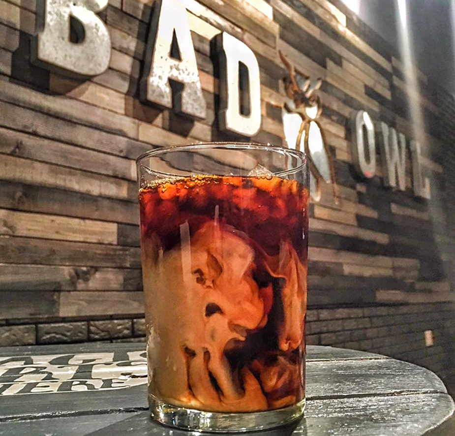 An iced latte served at the Henderson location of the popular Harry-Potter themed coffee shop.