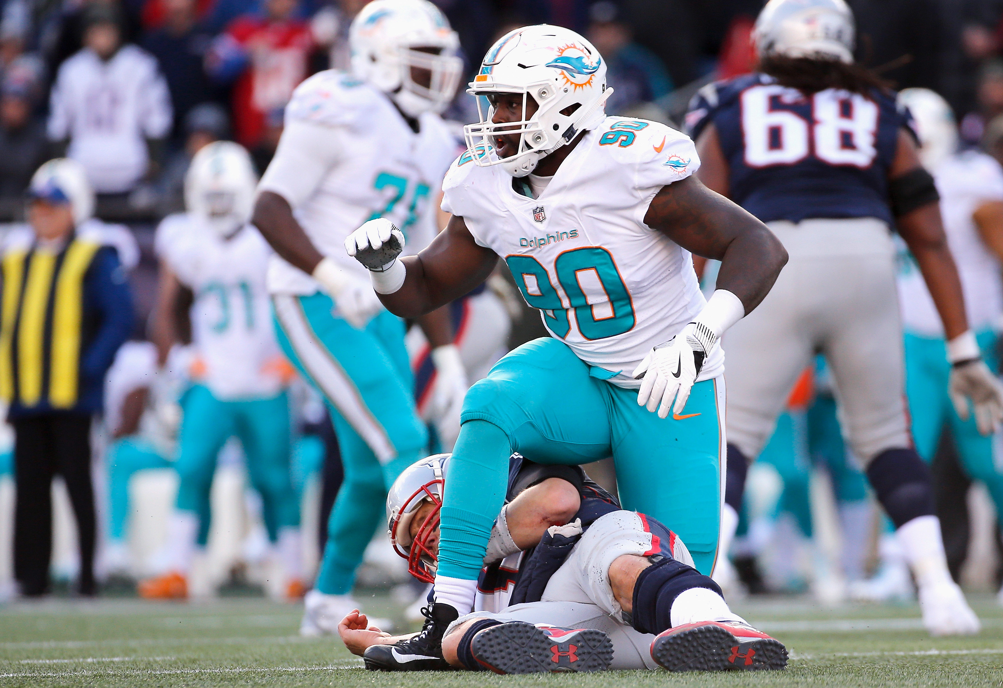 No one will be calling the Dolphins' Charles Harris a 'bust' after this season