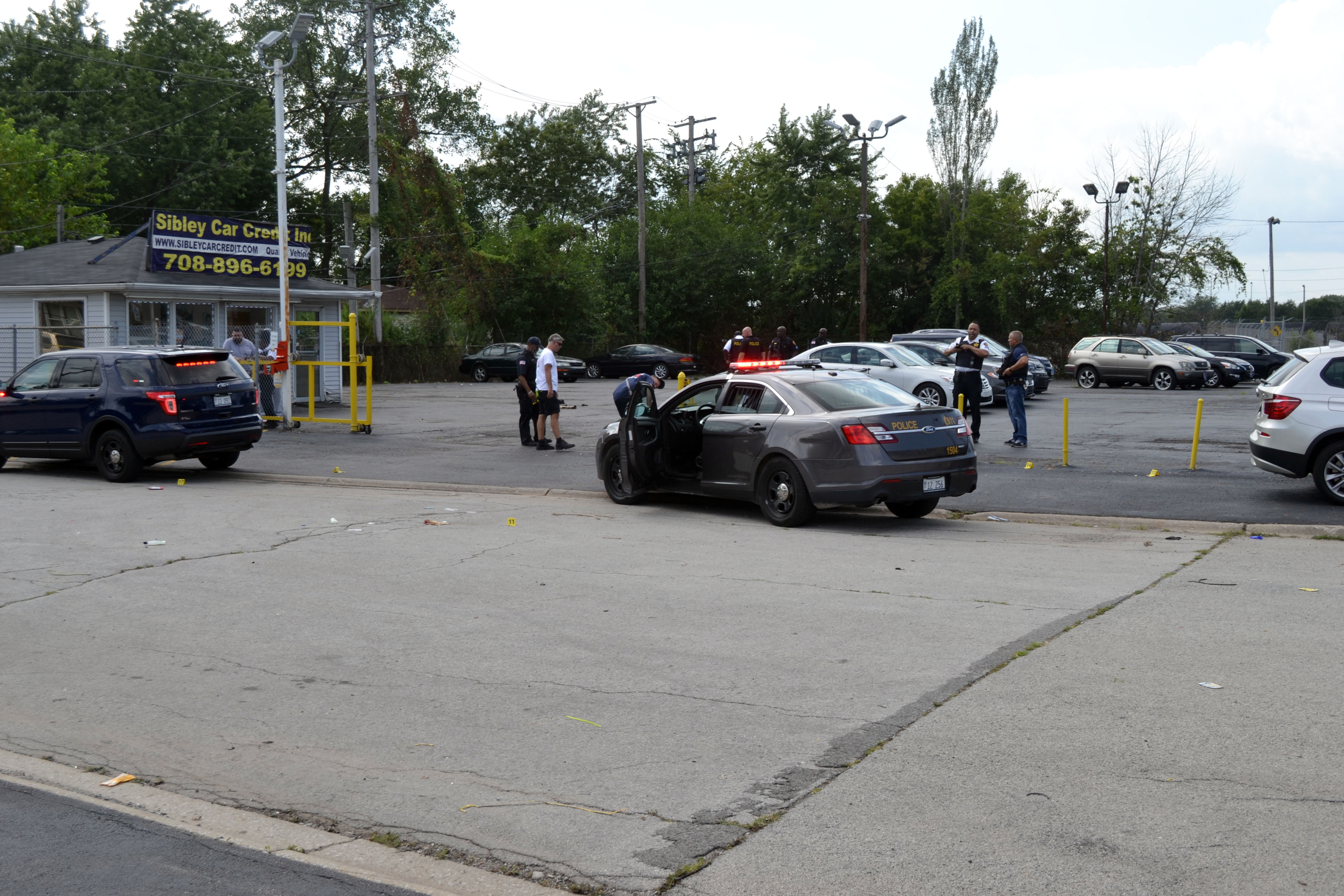 Authorities are investigating reports of a shooting involving a police officer Aug. 19, 2019, near Chicago Road and Sibley Boulevard in Dolton.