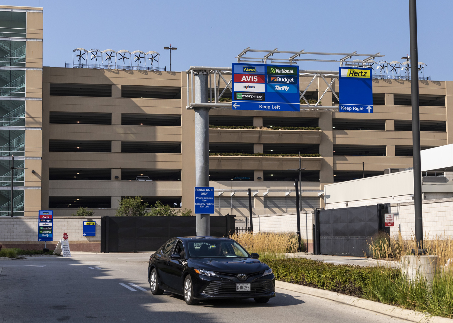 The Midway Airport rental car facility, 5150 W. 55th St.