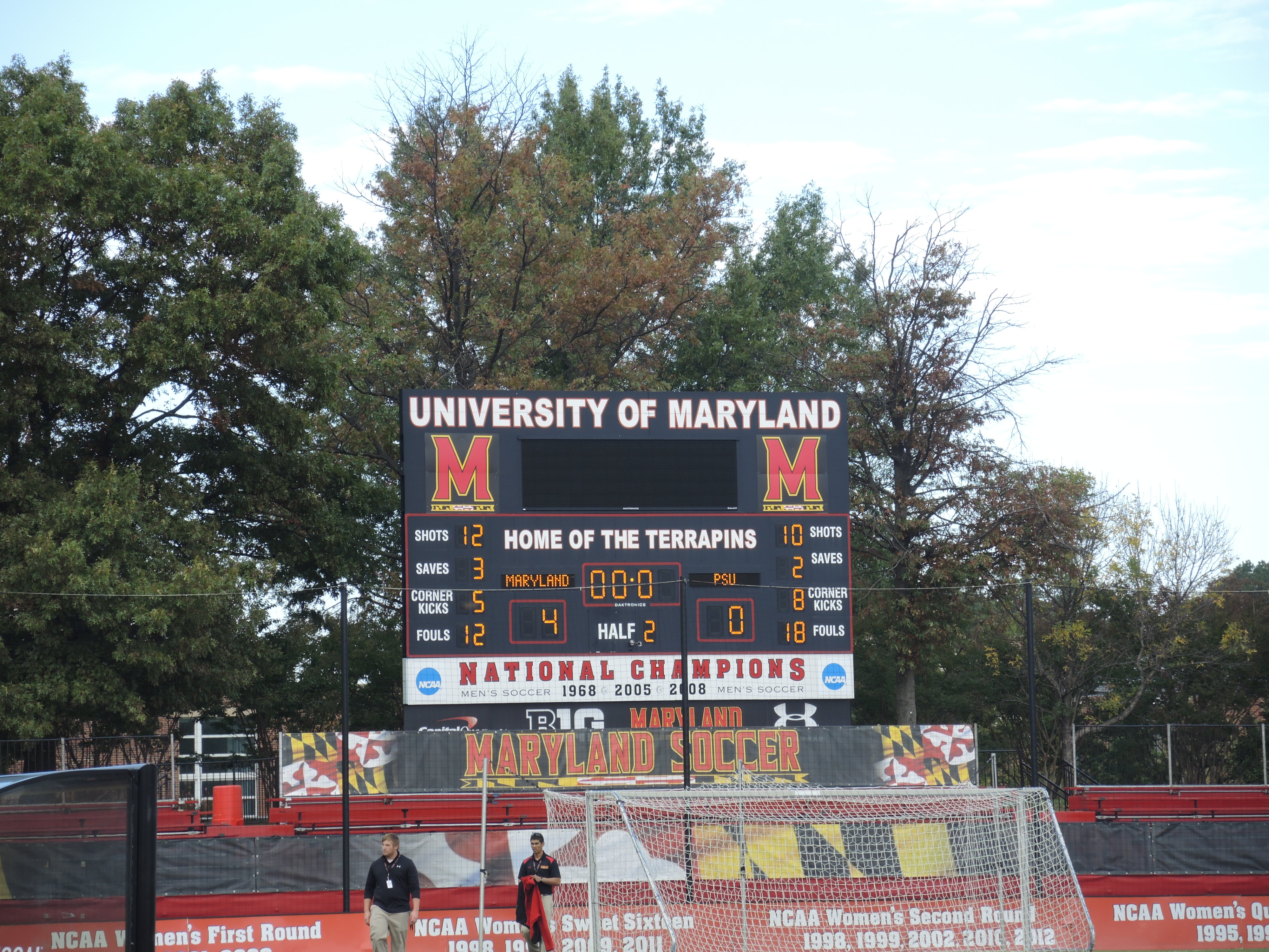 men's soccer scoreboard