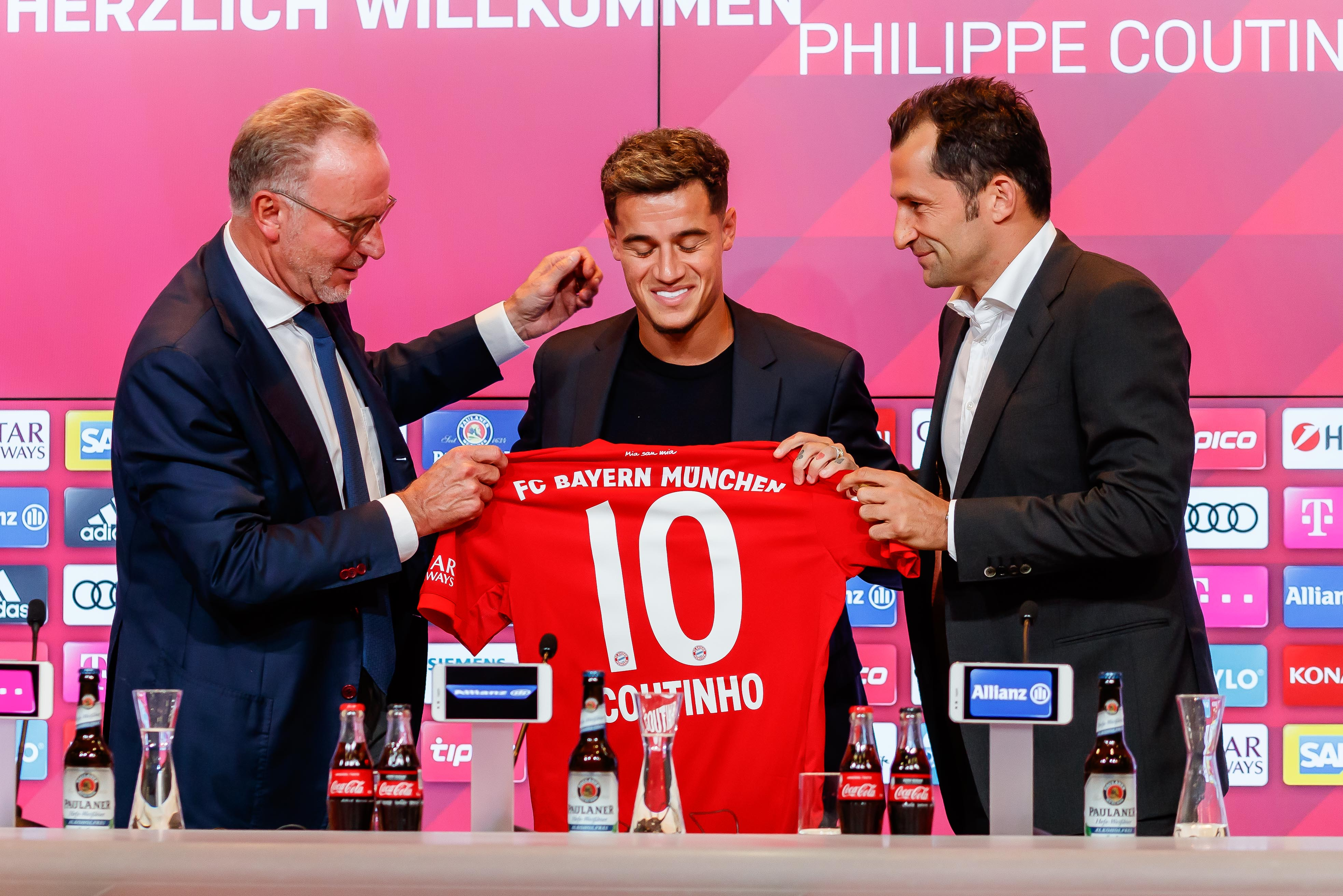 FC Bayern Muenchen Unveils New Signing Philippe Coutinho