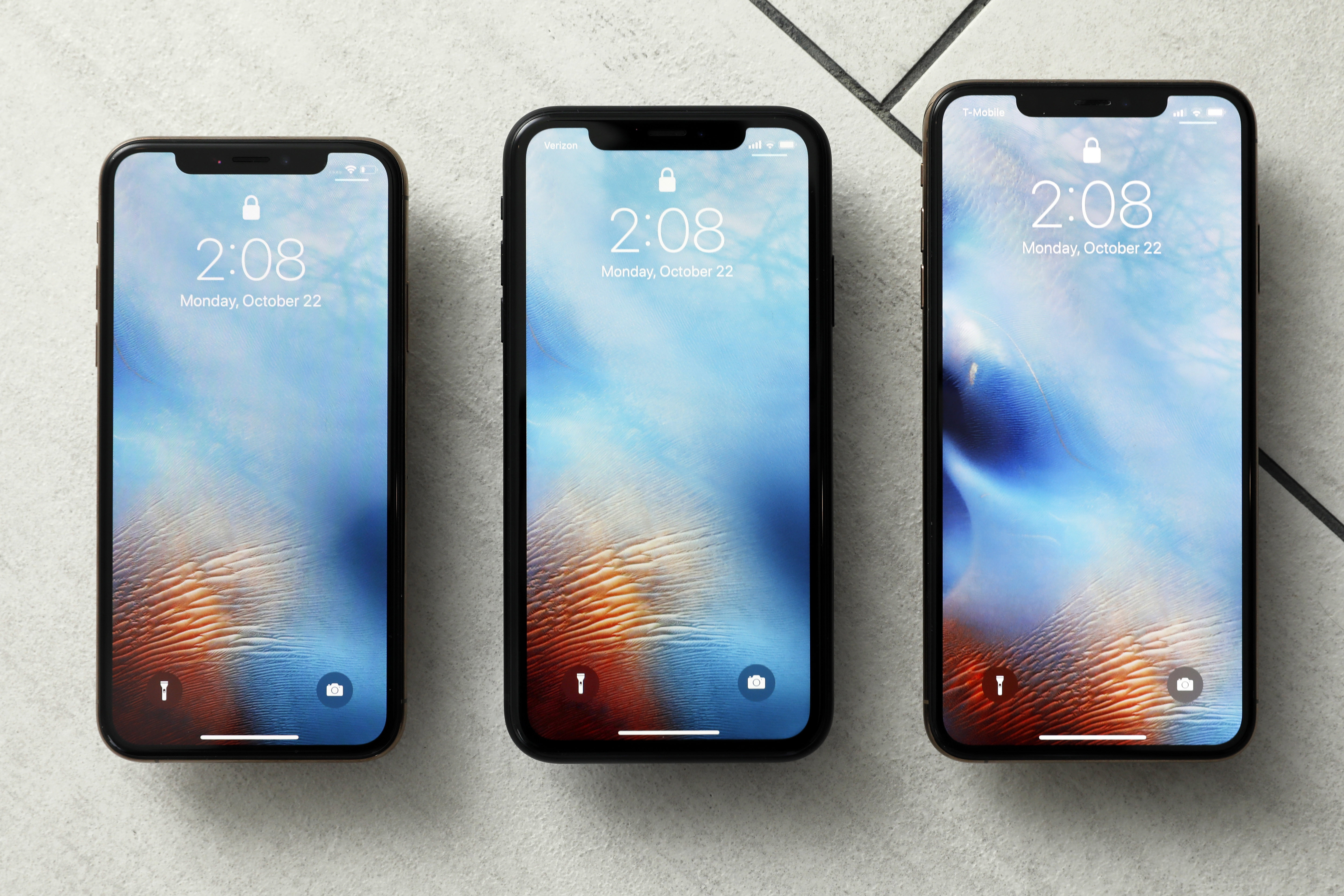 This Oct. 22, 2018, file photo shows the iPhone XS, from left, iPhone XR and the iPhone XS Max in New York.