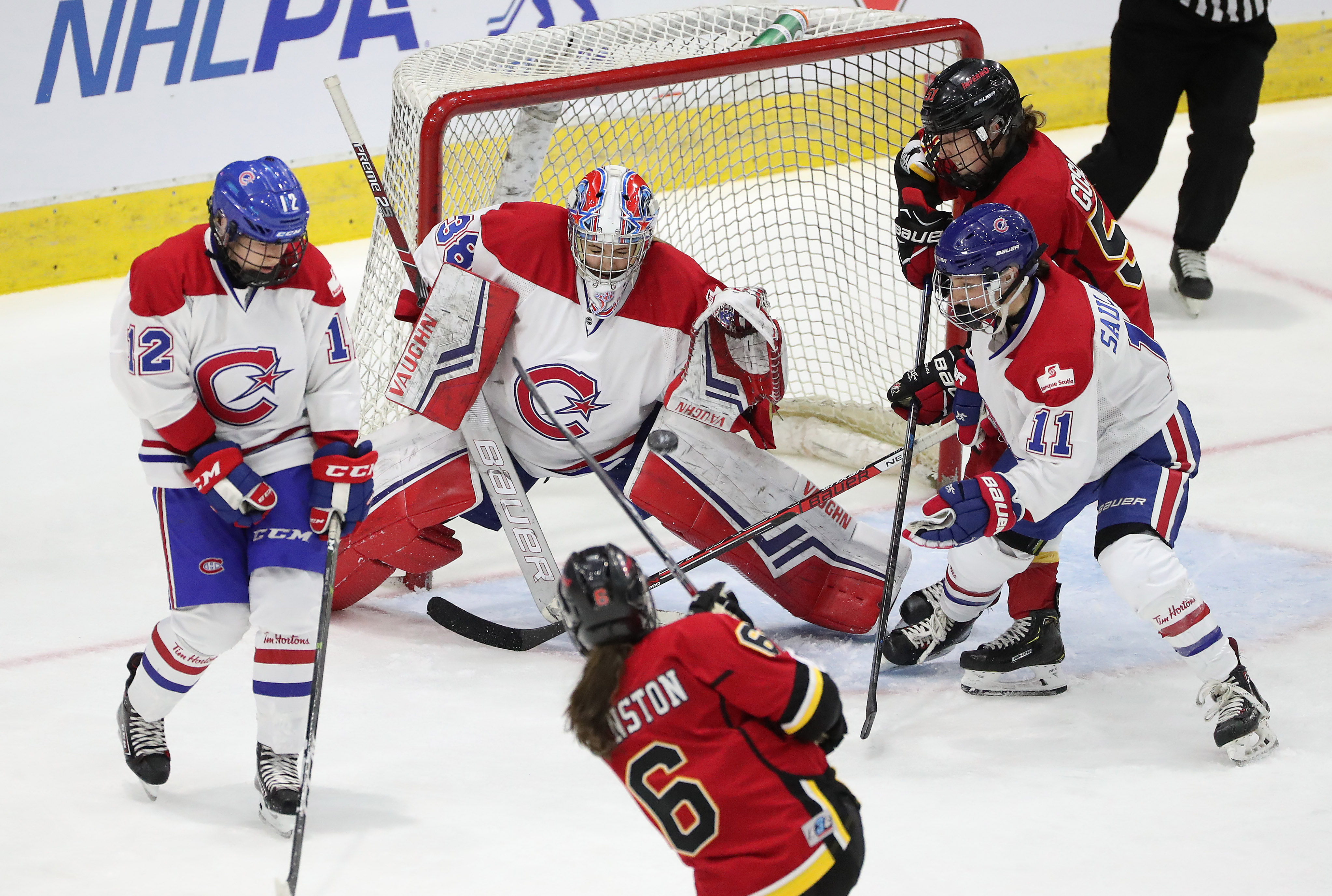 The Canadian Women's Hockey League's Clarkson Cup final between Calgary Inferno and Canadiennes de Montreal.