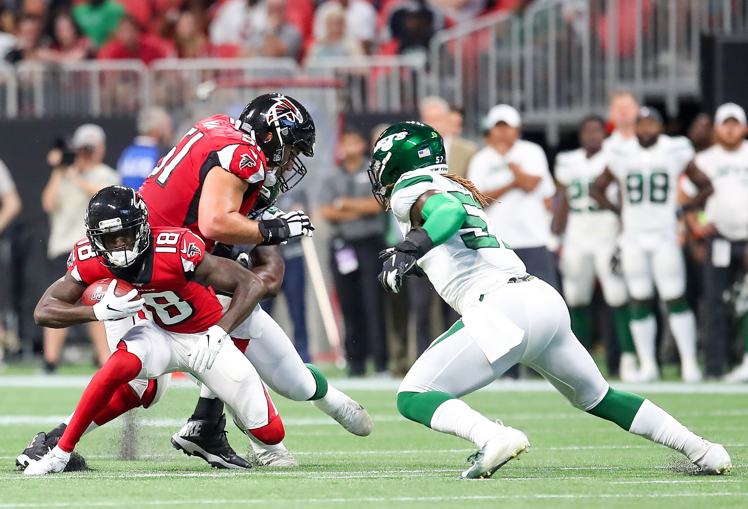 NFL: AUG 15 Preseason - Jets at Falcons