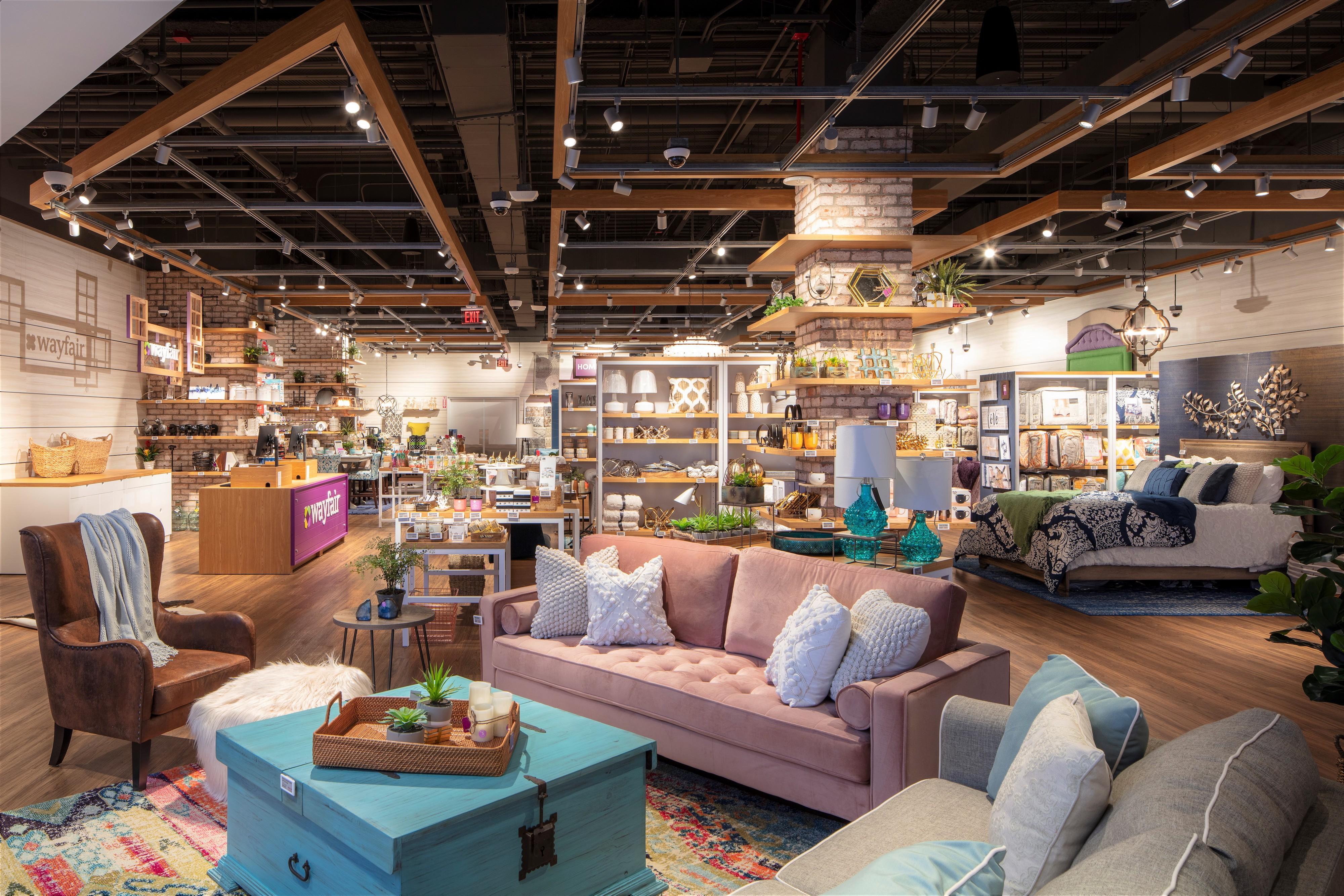 Peek inside Wayfair's first permanent brick-and-mortar store