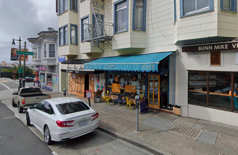A Google Street view image of a North beach storefront