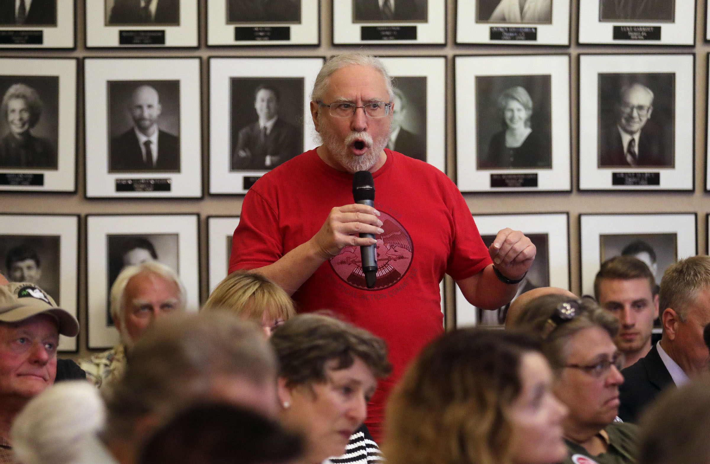 Clark Clements, former environmental scientist, speaks in opposition to a proposed property tax increment reimbursement of up to $28 million for development of an inland port during a Salt Lake City Council Redevelopment Agency meeting at the City-County Building in Salt Lake City on Tuesday, Aug. 20, 2019.