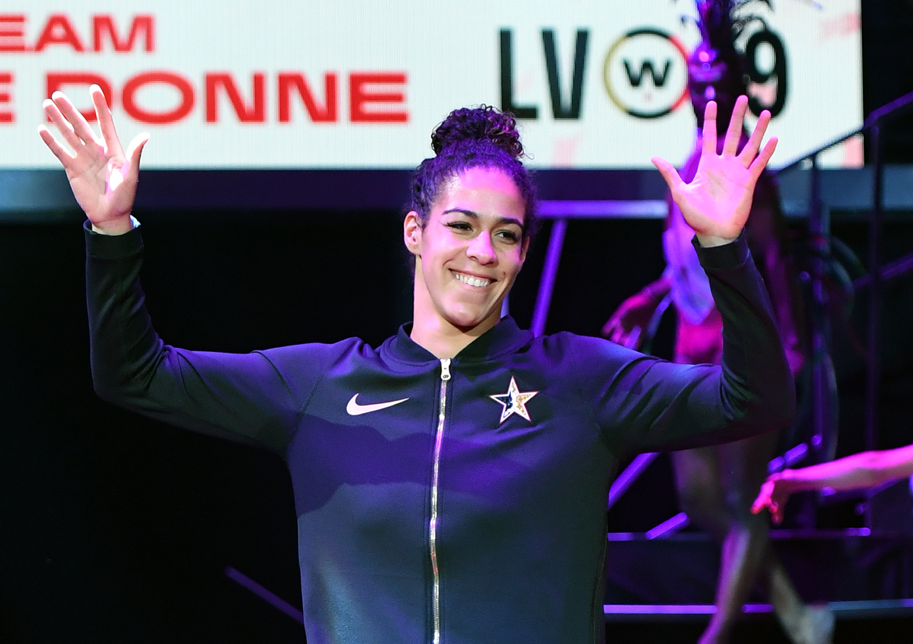 Kia Nurse at the WNBA All-Star Game 2019