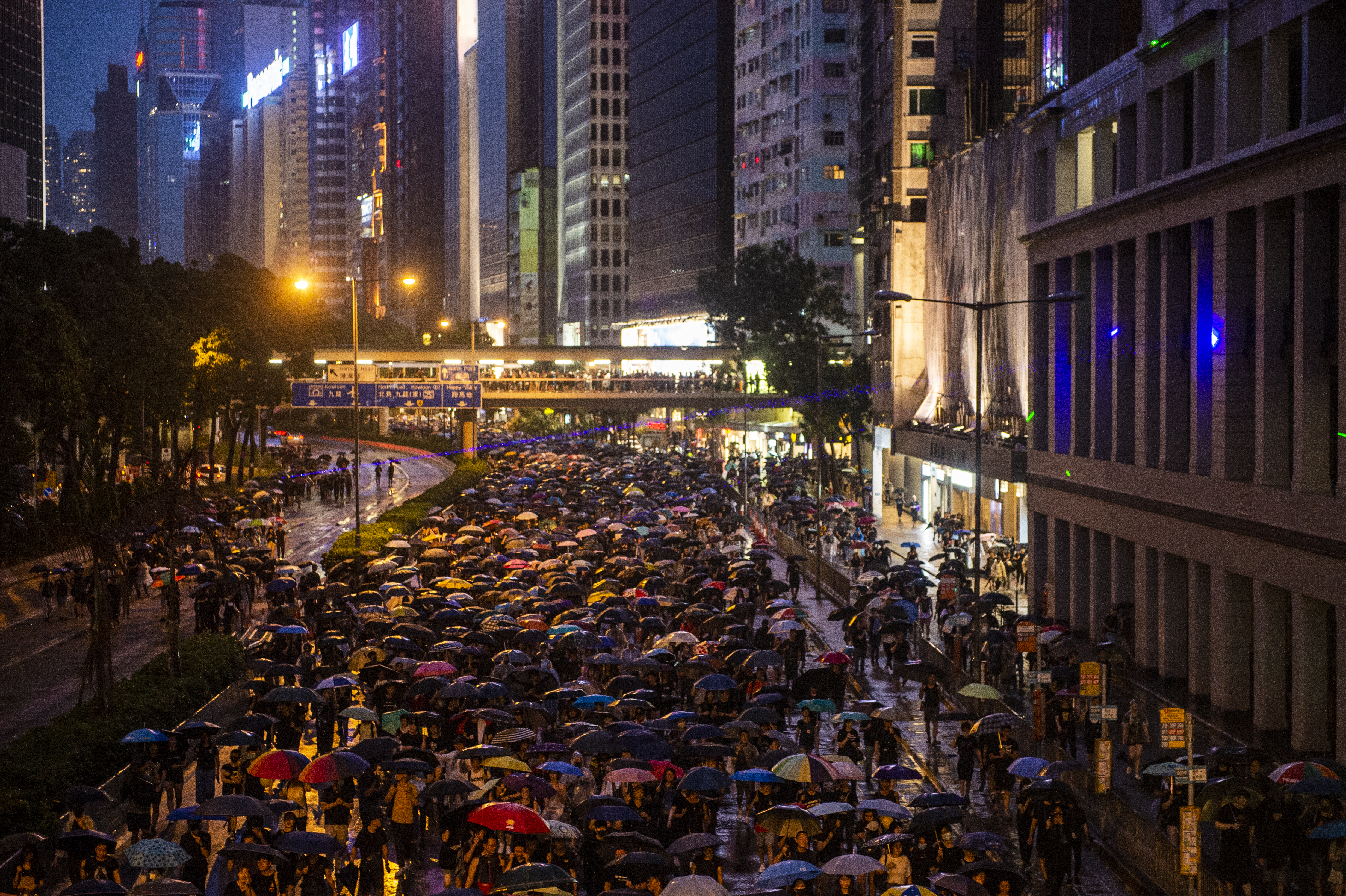 Demonstrators Attend Anti-Government Protest In Hong Kong