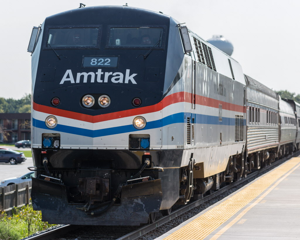 A pedestrian was hit by an Amtrak train Aug. 21, 2019, in Northbrook.
