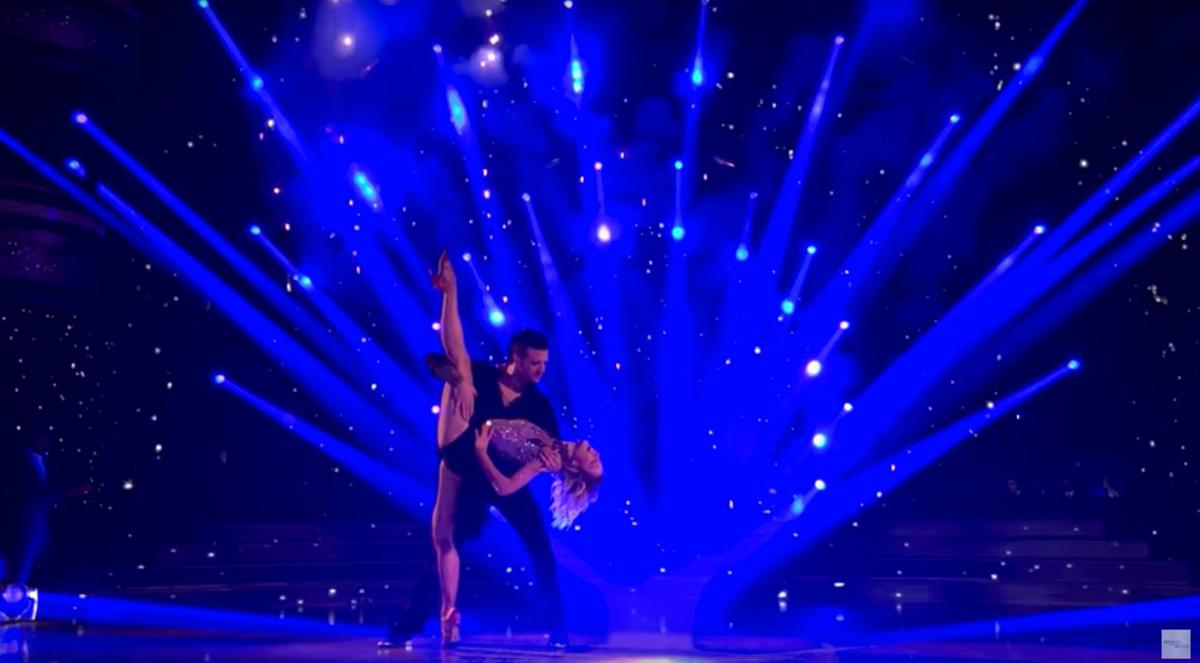 """Lindsey Stirling performs on ABC's """"Dancing With the Stars"""" in 2017."""