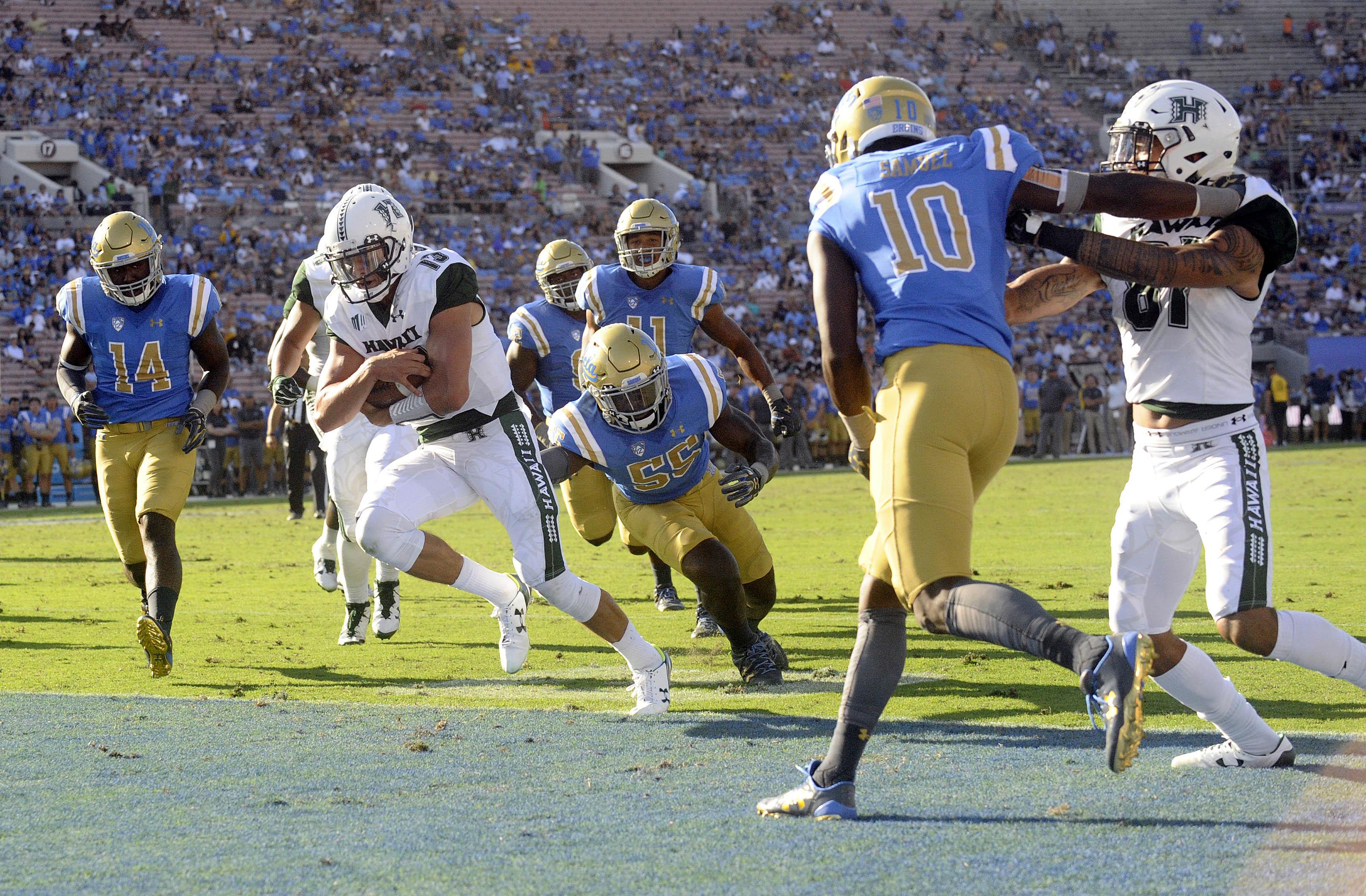 NCAA Football: Hawaii at UCLA