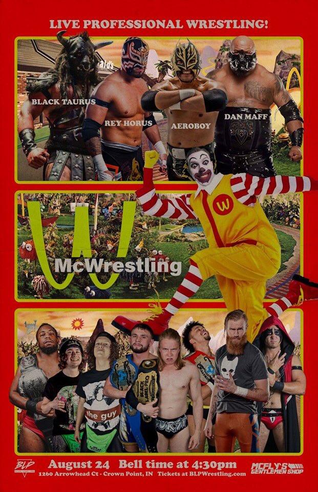 Poster for Black Label Pro event McWrestling